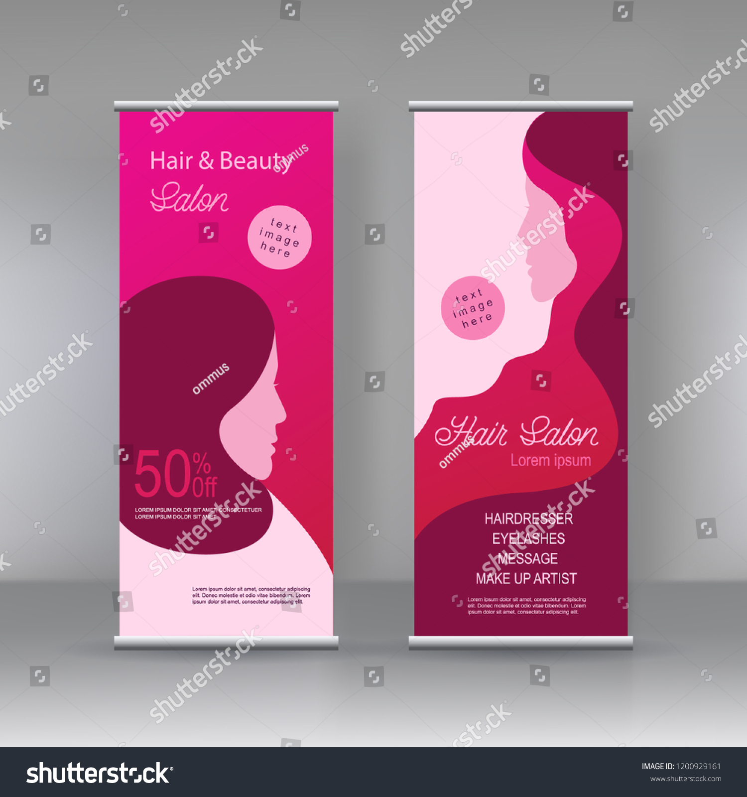 Vector Beauty Salon Stand Banner Design Stock Vector Royalty Free 1200929161