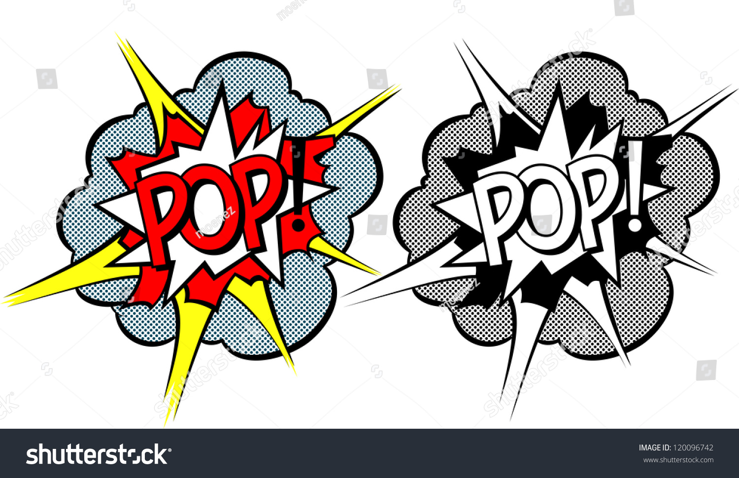 cartoon explosion popart style stock vector 120096742. Black Bedroom Furniture Sets. Home Design Ideas
