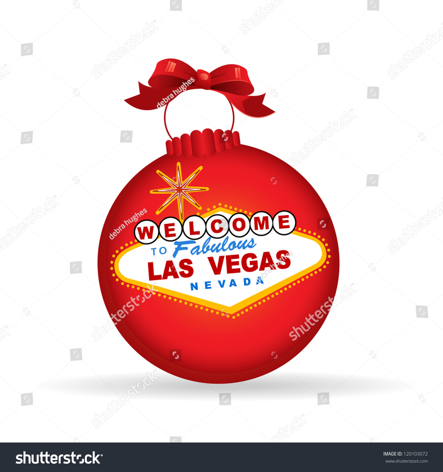 las vegas sign christmas bauble christmas or new year