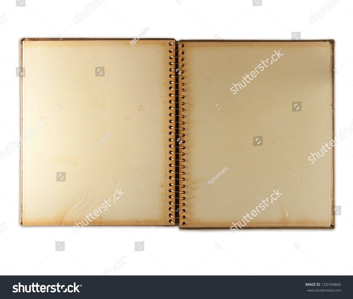 Blank Page 1960 S Photo Album Isolated Stock Photo Edit Now