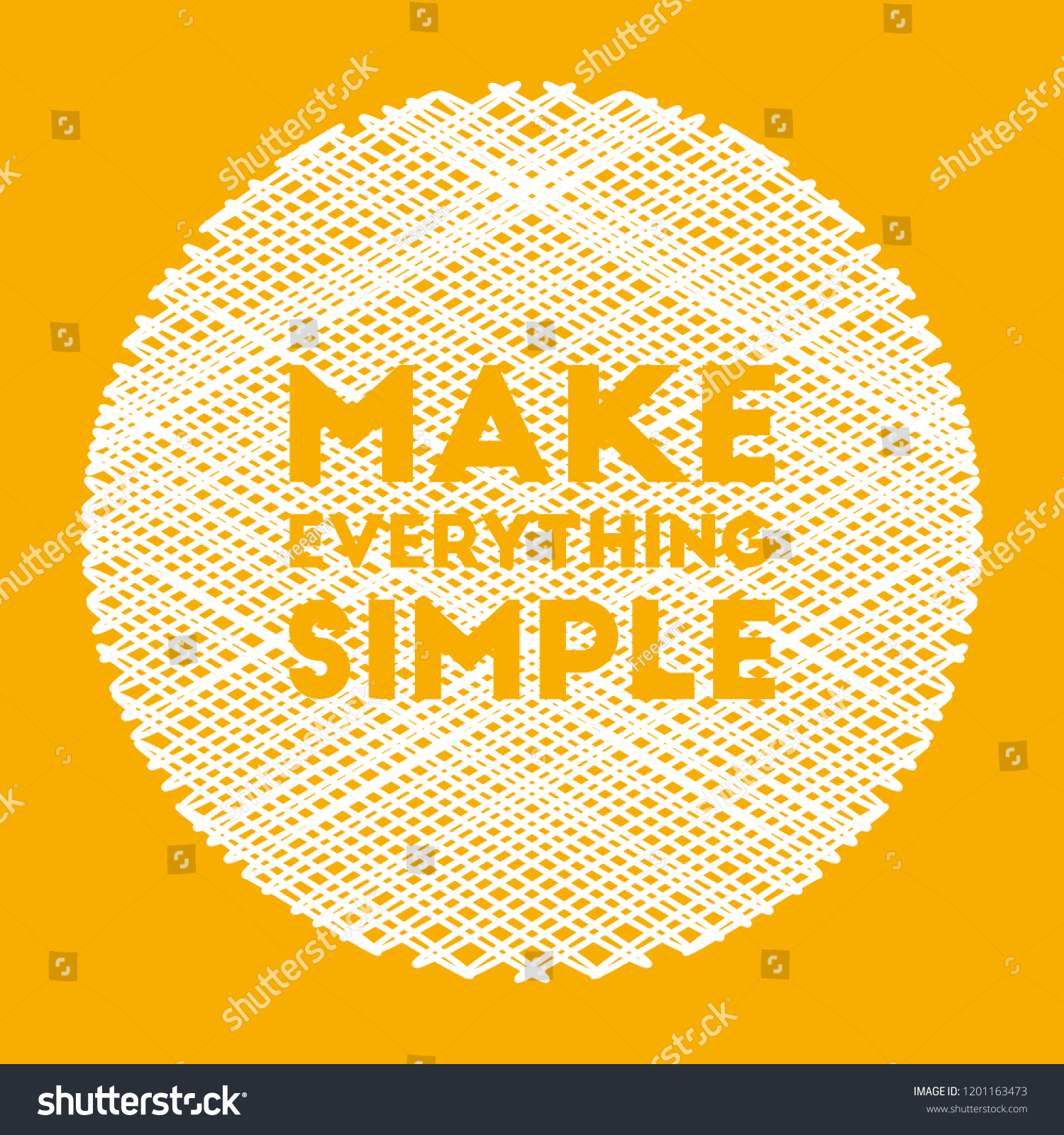 Make Everything Simple Inspirational Motivational Vector Stock Vector Royalty Free 1201163473