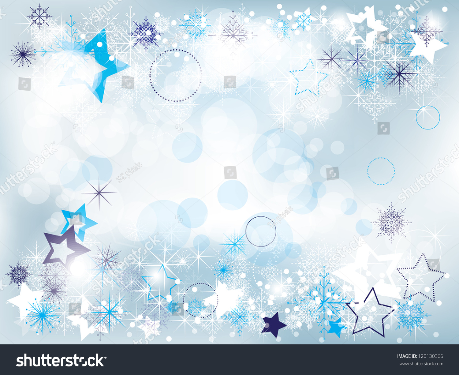 Elegant Christmas Background With Snowflakes Stock Vector