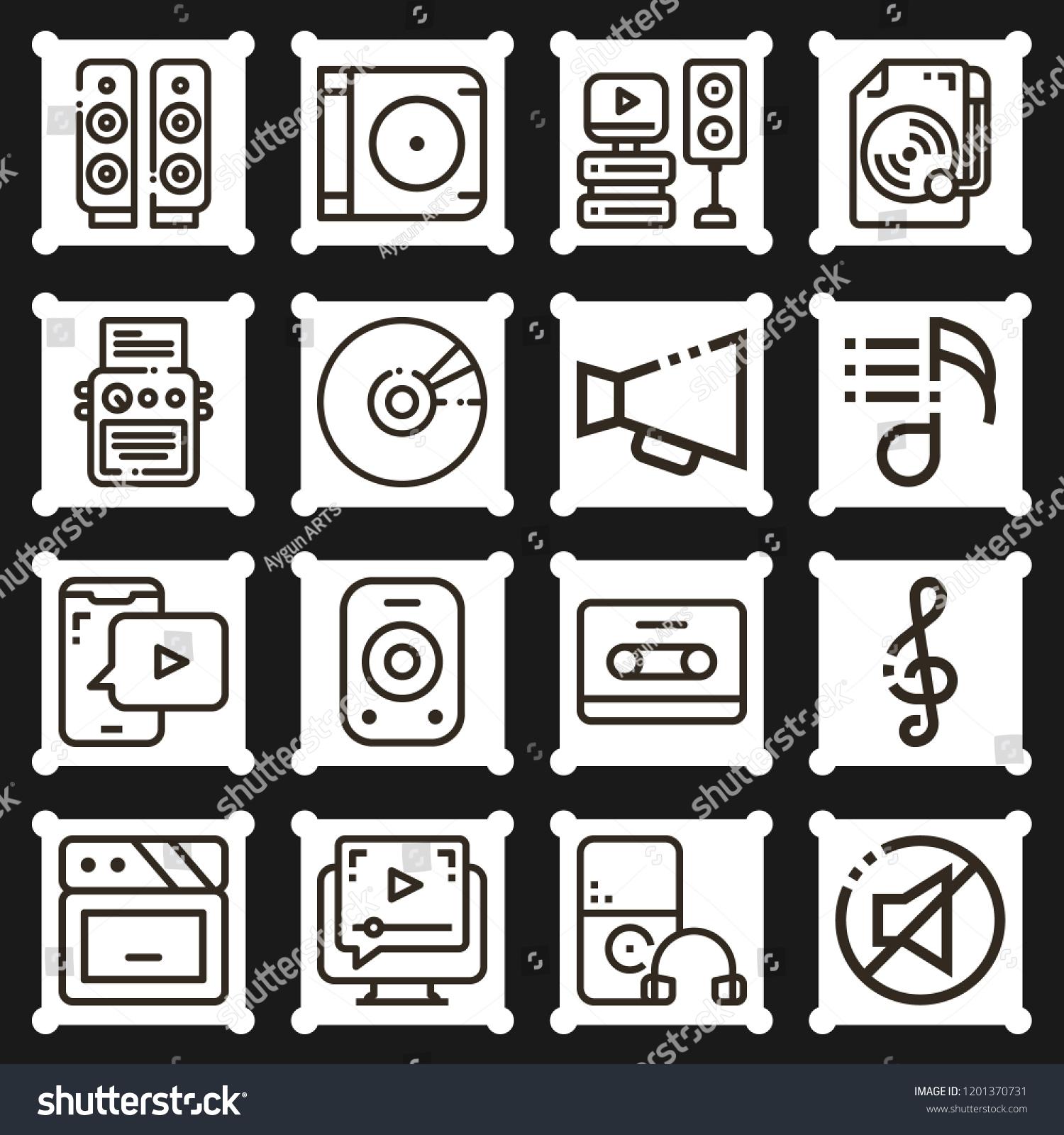 Royalty Free Stock Illustration of Cd Loudspeaker Sound
