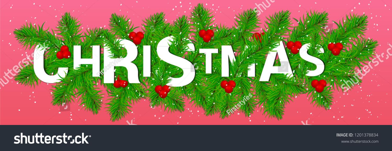 Christmas Greeting Card Sale Banner Header Stock Vector (Royalty ...