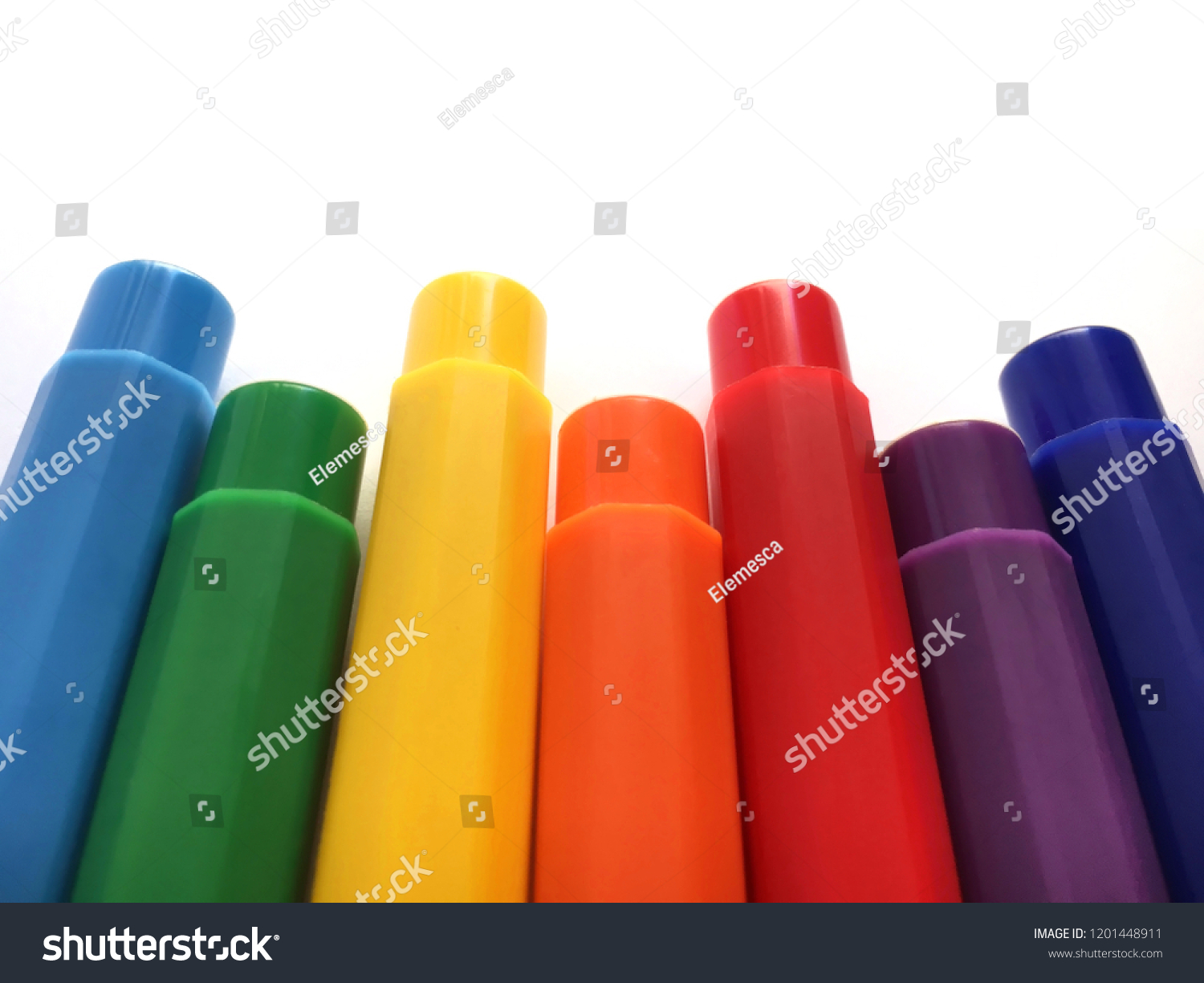 Rainbow Made Paint Markers Isolated On Stock Photo Edit Now