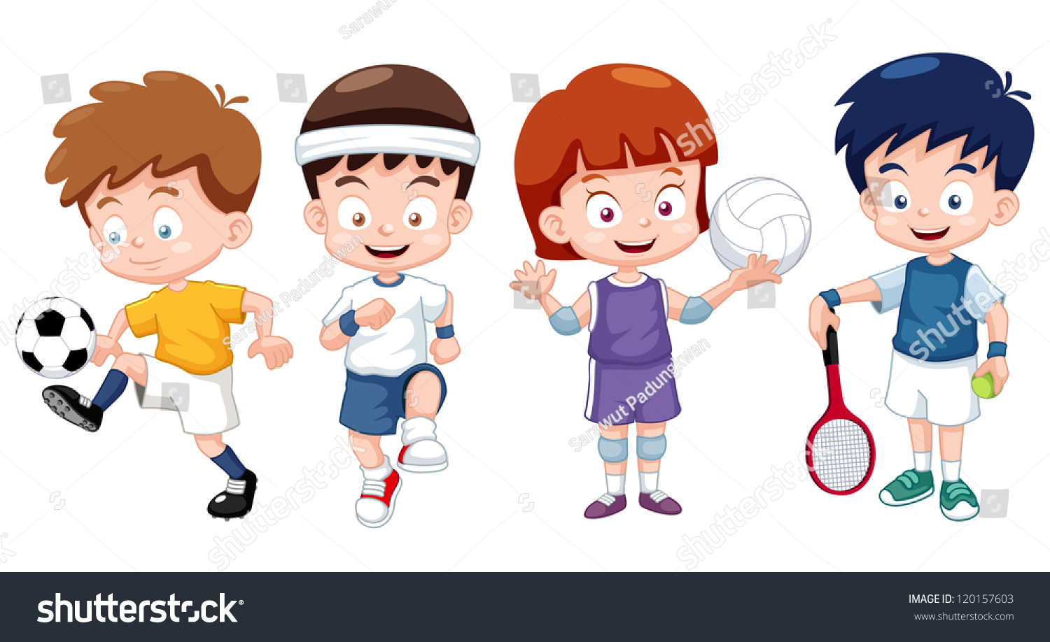 Cartoon Characters Playing Sports : Cartoon kids playing sports pixshark images