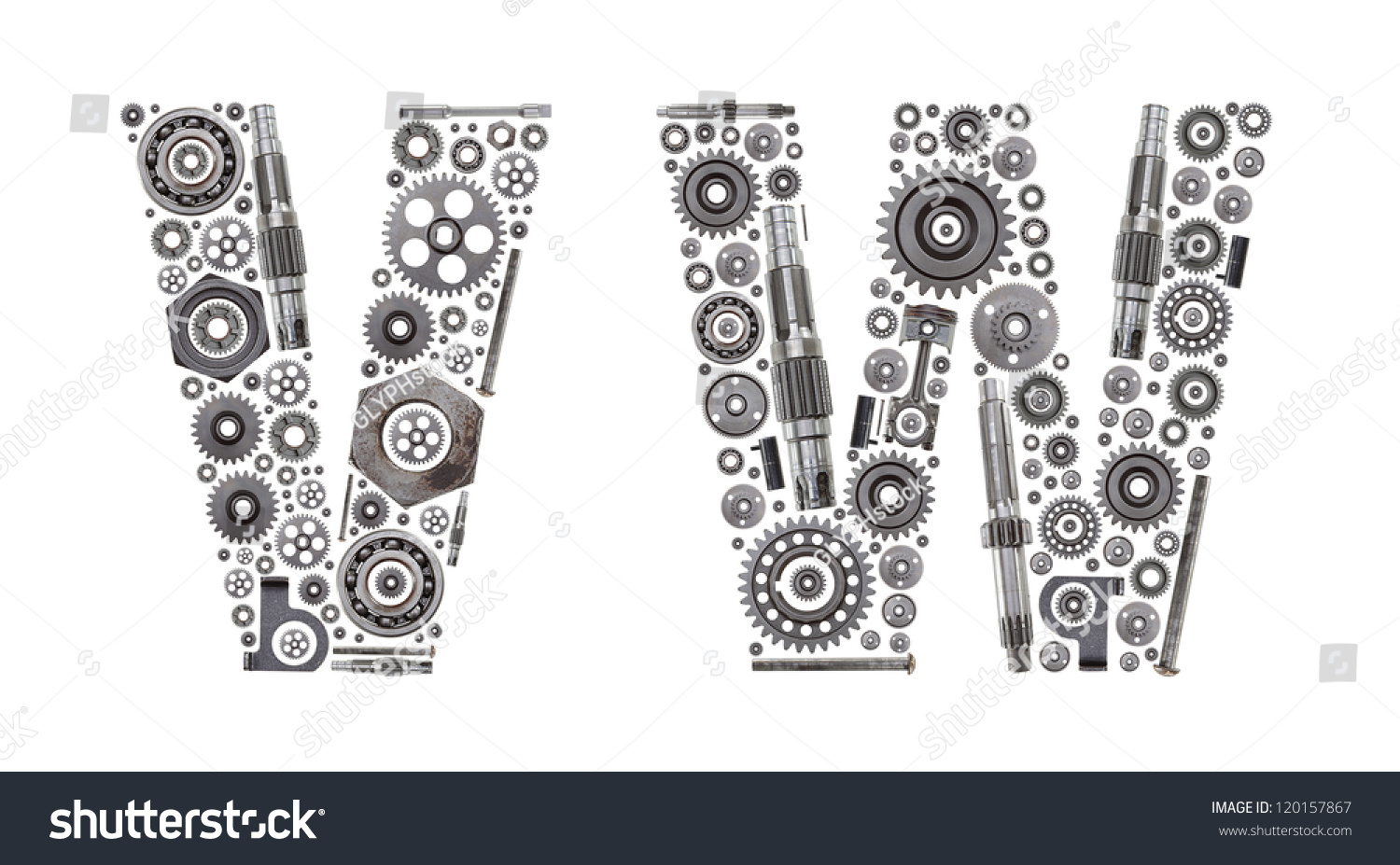 Metal Block Letters Custom Metal Block Letters Made Out Stock Photo 120157867