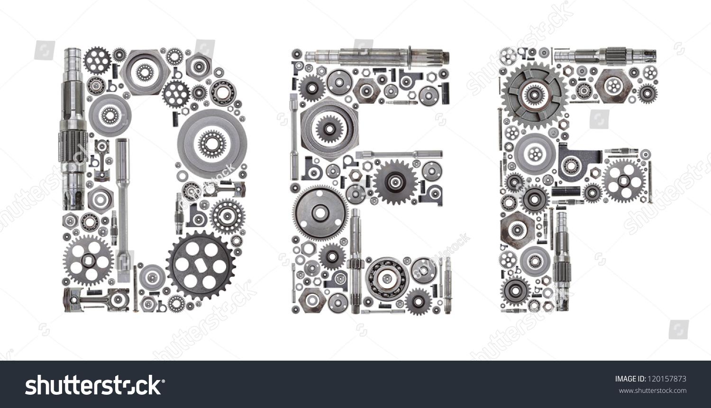 Metal Block Letters Royaltyfree Custom Metal Block Letters Made Out Of… 120157873