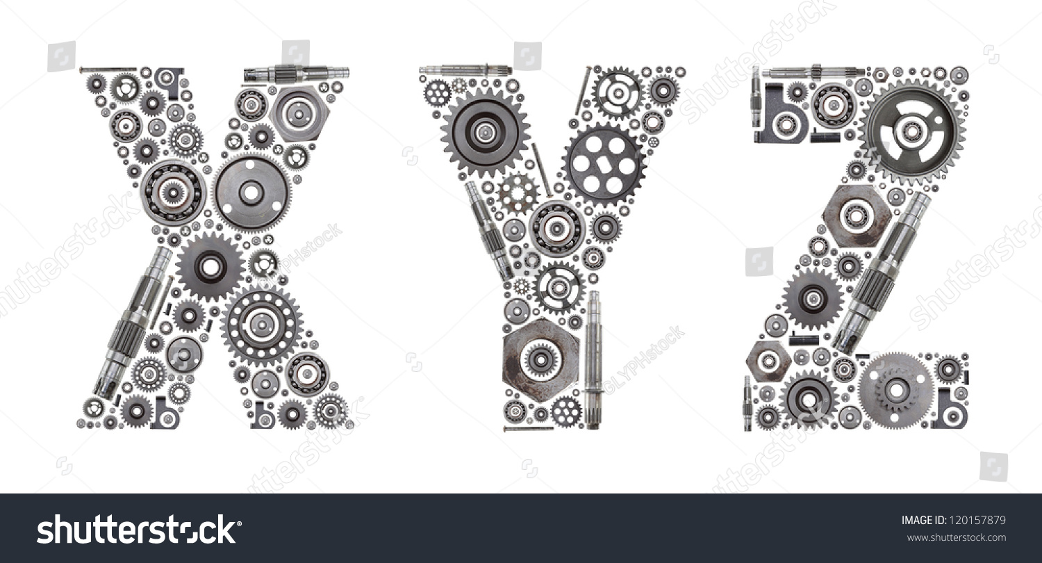 Metal Block Letters Custom Metal Block Letters Made Out Stock Photo 120157879