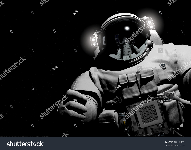 astronaut black background - photo #15