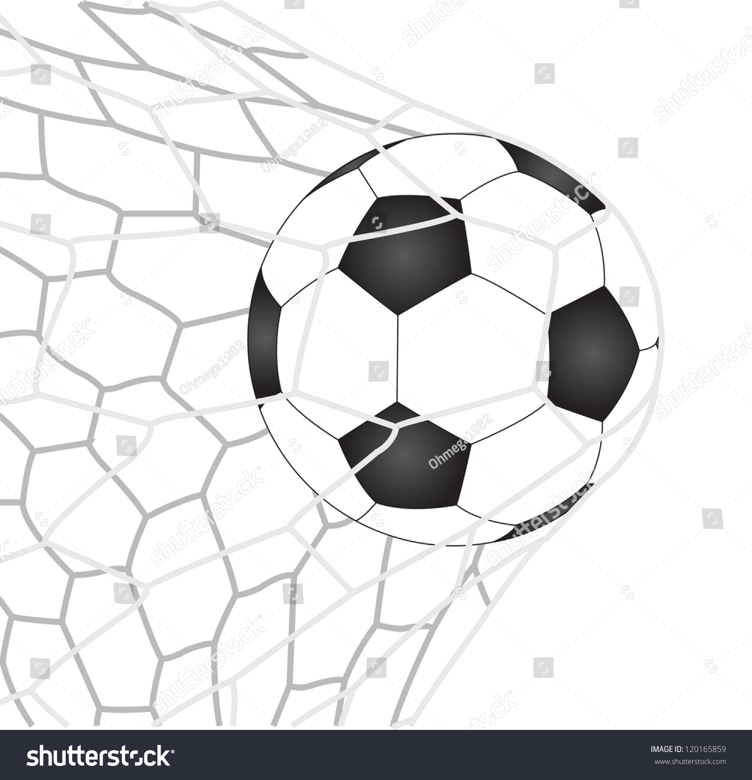 Soccer Football Goal Net Vector Eps Stock Vector 120165859 ...