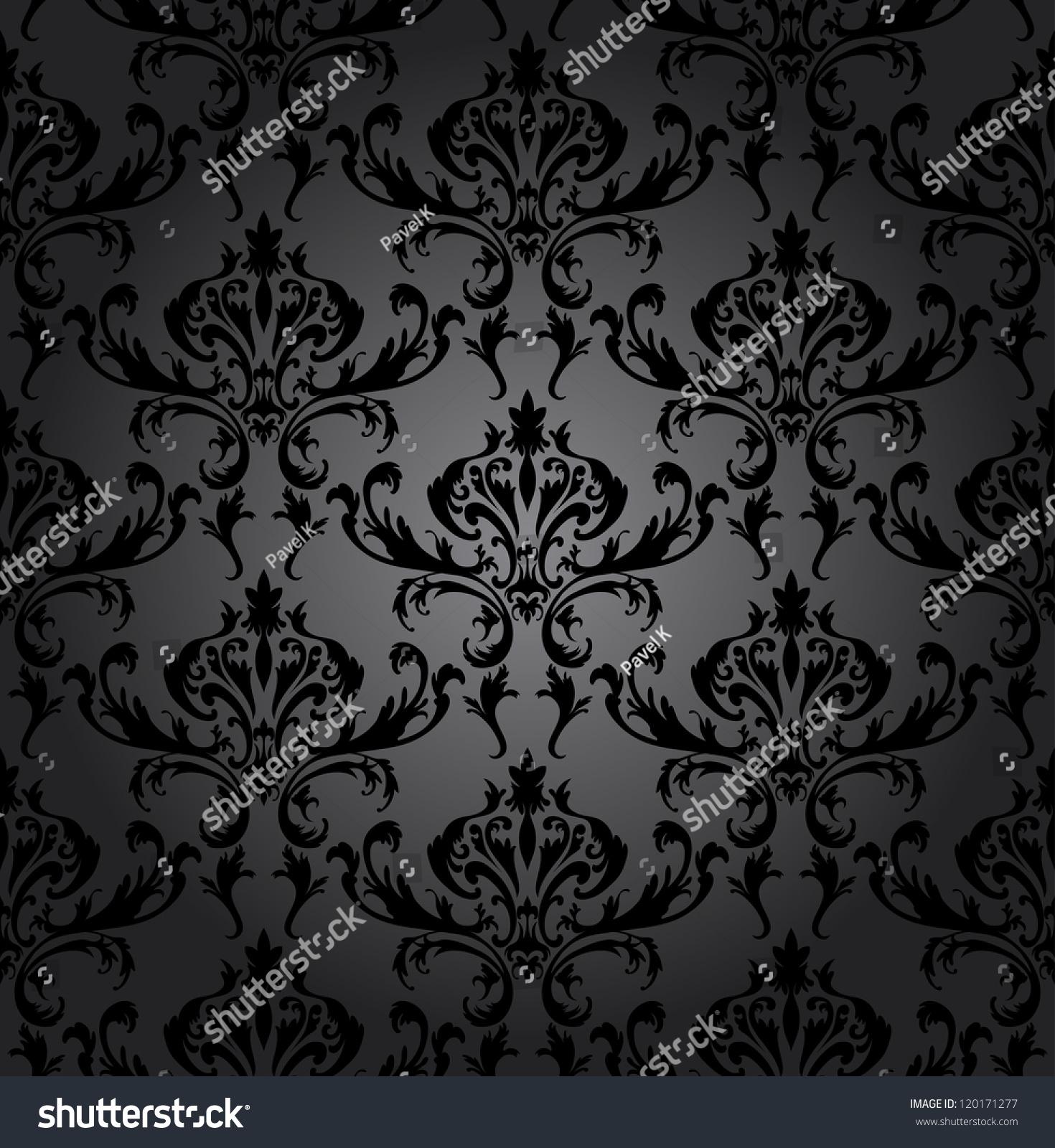 swirling royal pattern wallpaper - photo #27