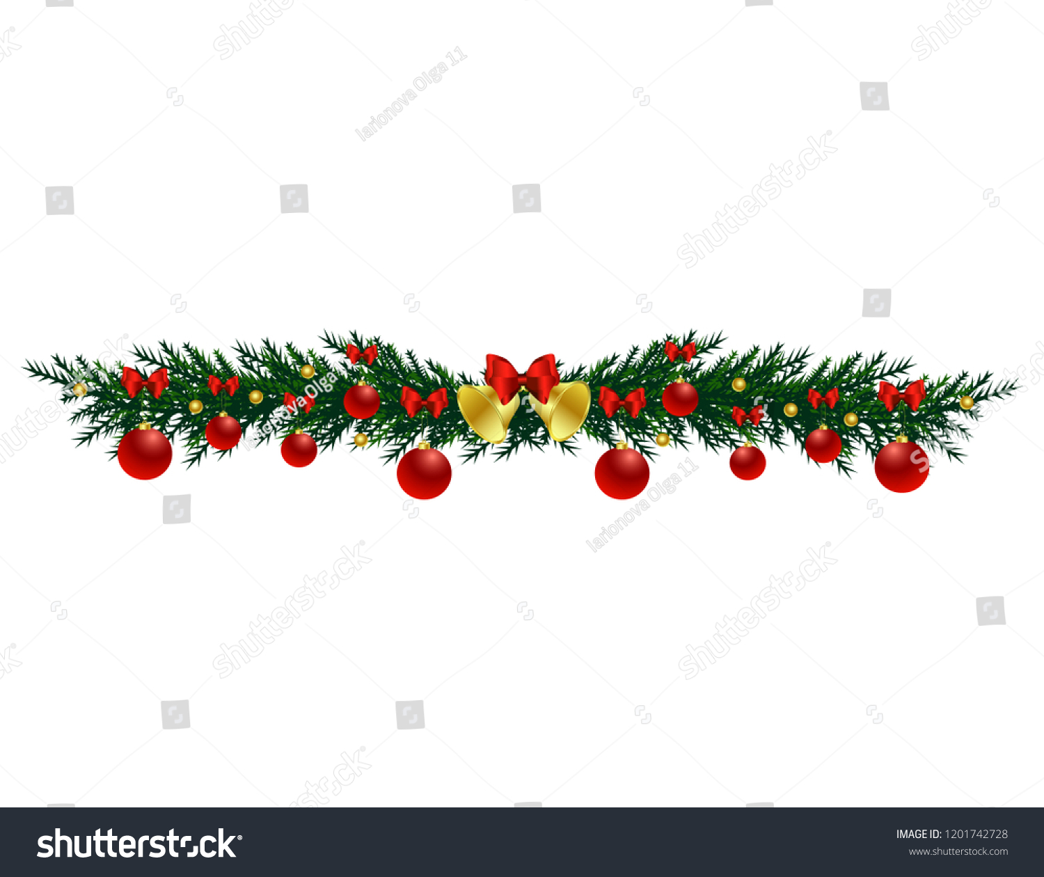 Christmas tree branch with toys #1201742728