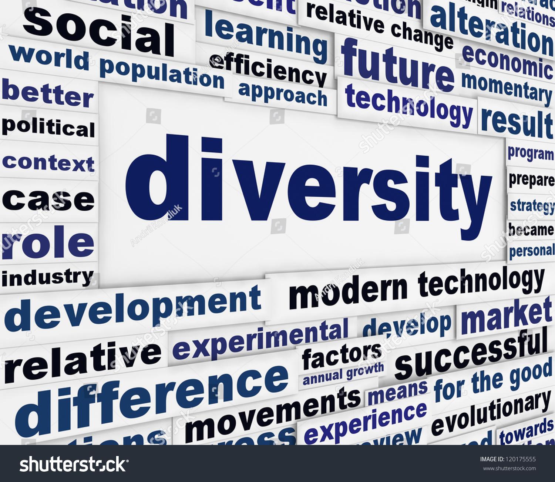 Poster design word - Diversity Creative Poster Design Distinction Word Clouds Background