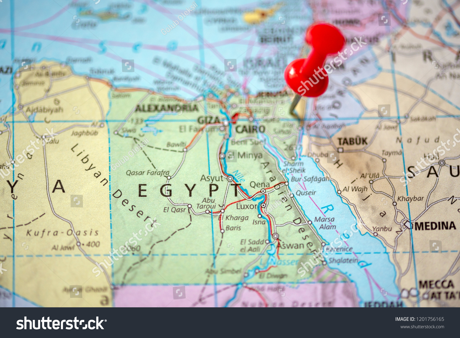 Picture of: Push Pin On Territory Egypt On Stock Photo Edit Now 1201756165