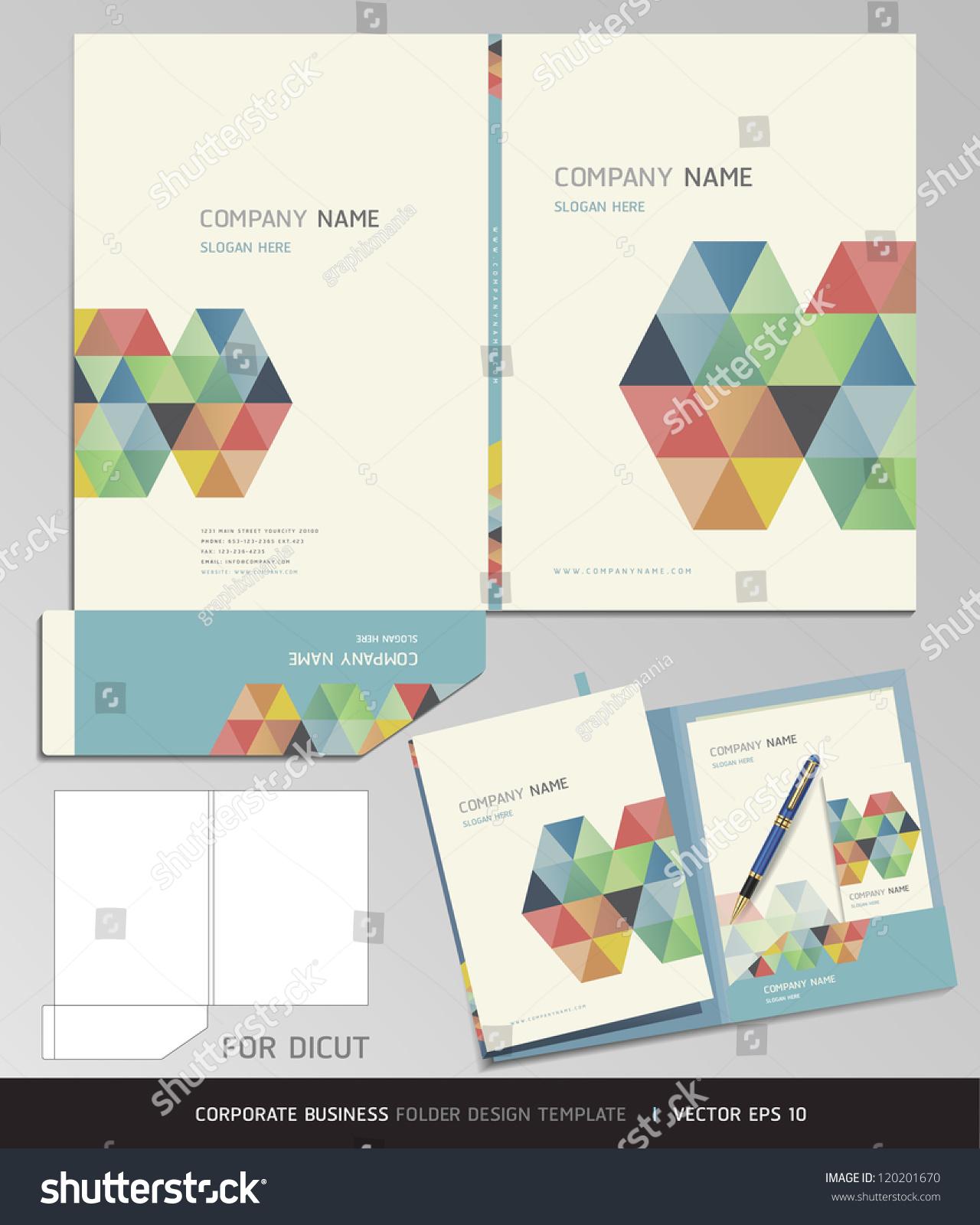 Corporate Identity Business Set Folder Design Vectores En
