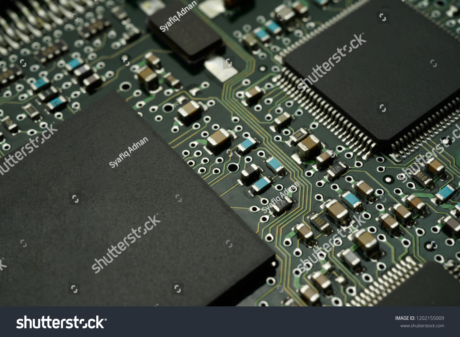 Printed Circuit Board Smd Ic Mounted Stock Photo Edit Now Circuits With Part On