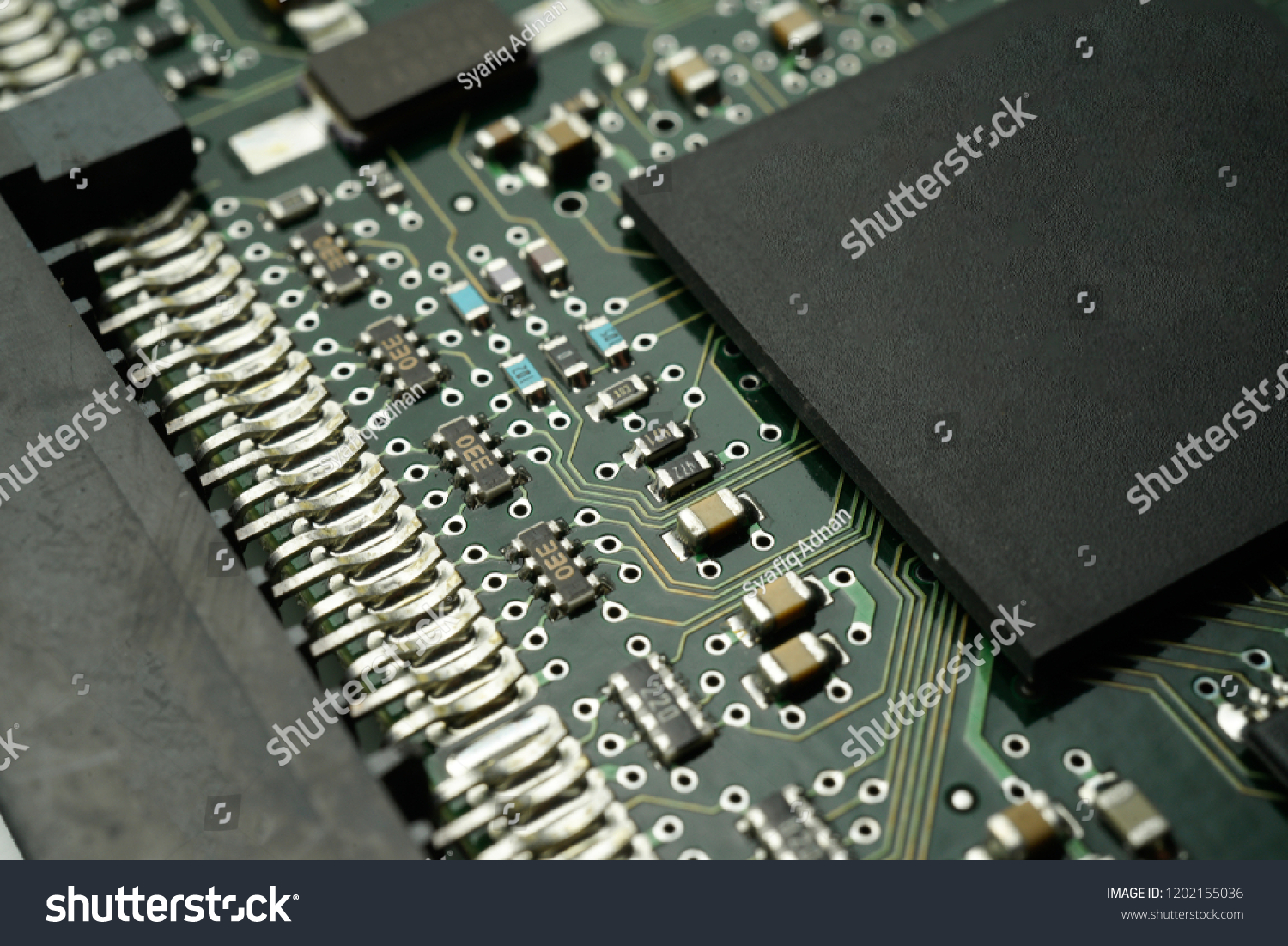 Printed Circuit Board Smd Ic Mounted Stock Photo Edit Now Photos Images Pictures Shutterstock With Part On