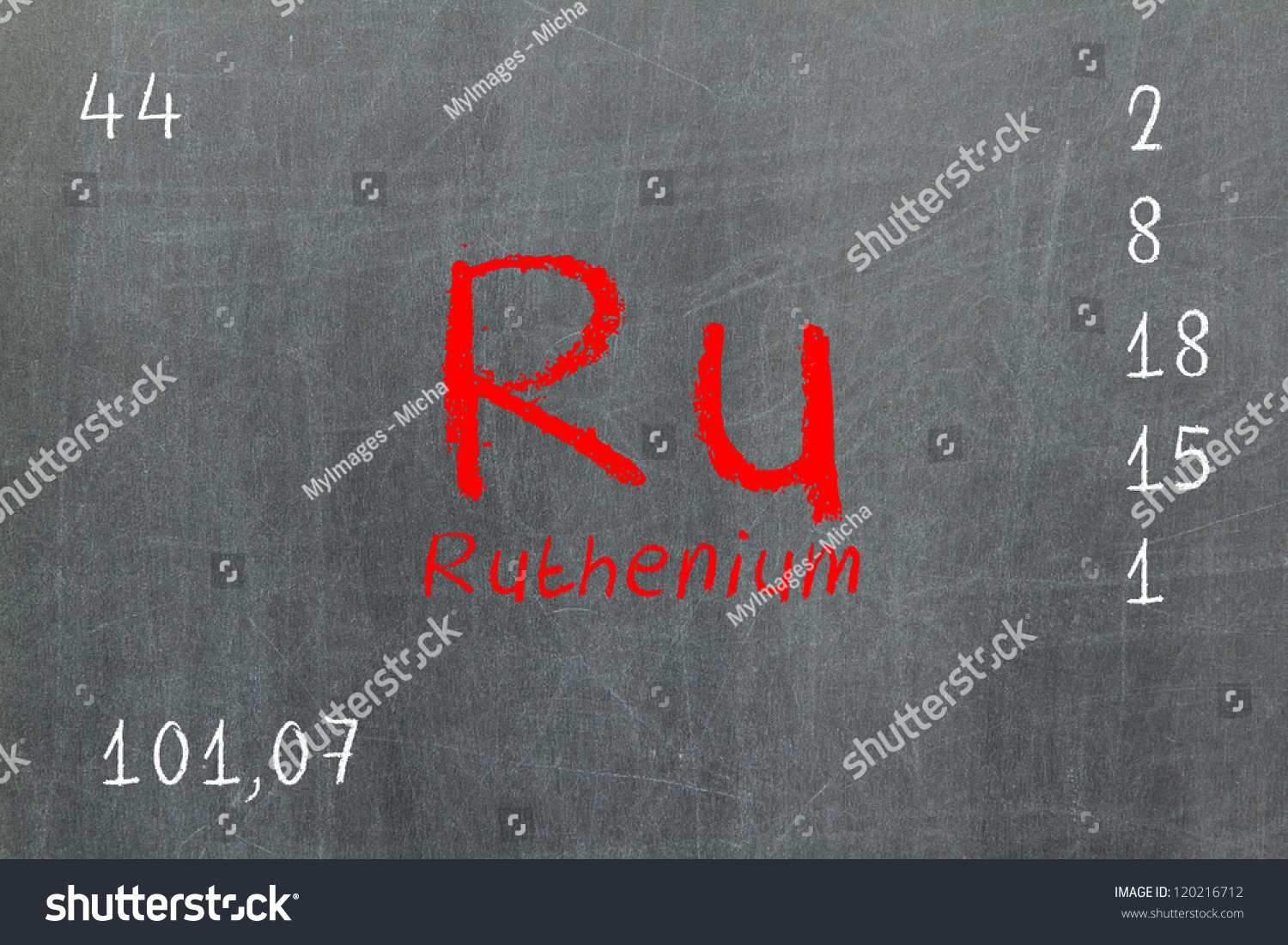Isolated blackboard periodic table ruthenium chemistry stock isolated blackboard with periodic table ruthenium chemistry gamestrikefo Choice Image