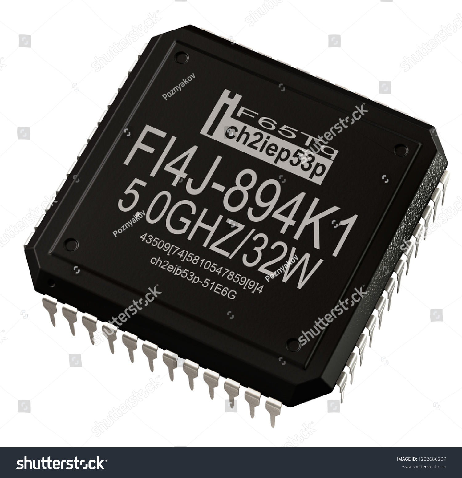 Integrated Circuit Digital Microprocessor Computer Parts Stock Where To Buy Circuits In Micro Chip Artificial Intelligence 3d Rendering New