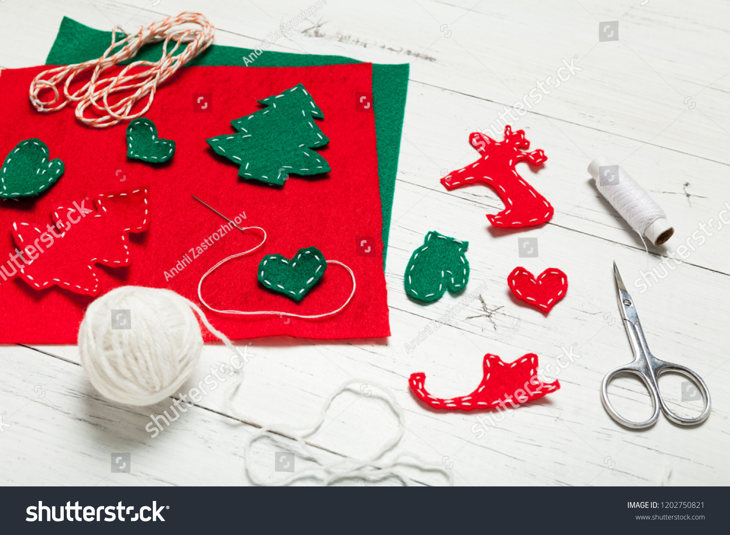 Christmas Art Work Holiday Handmade Decoration Stock Photo Edit Now