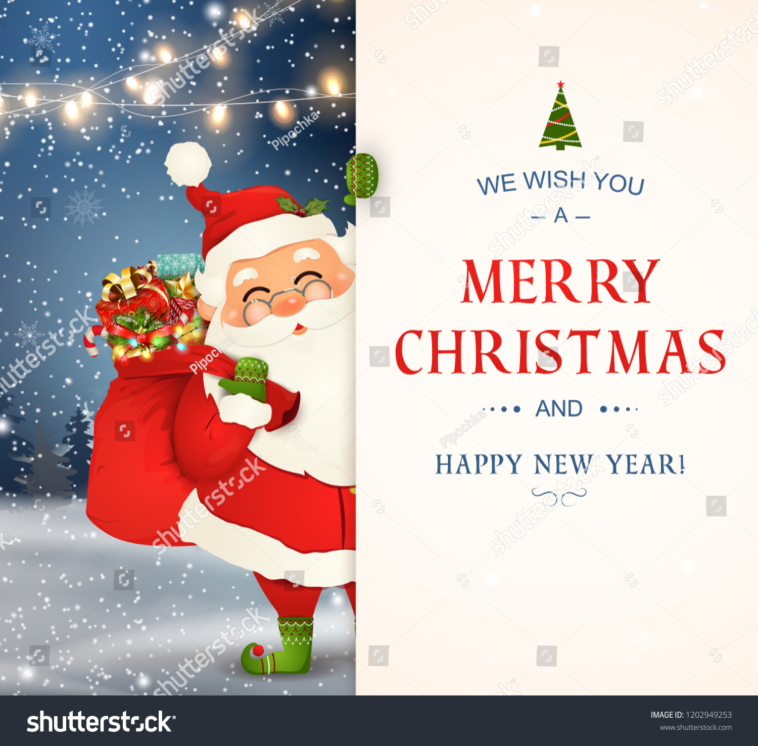 we wish you merry christmas happy stock vector royalty free 1202949253 https www shutterstock com image vector we wish you merry christmas happy 1202949253