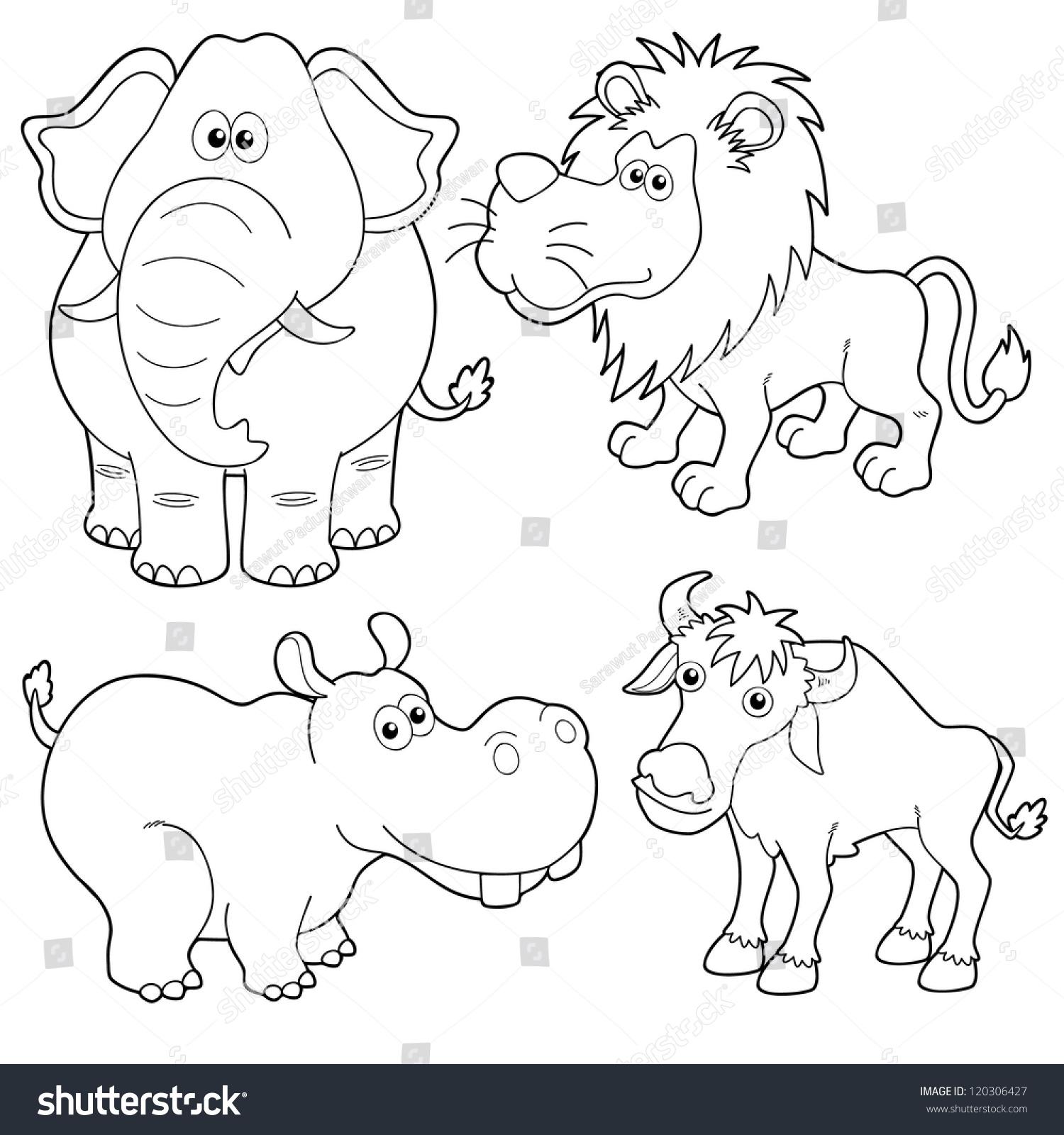 Royalty Free Illustration Of Wild Animals Cartoons 120306427 Stock