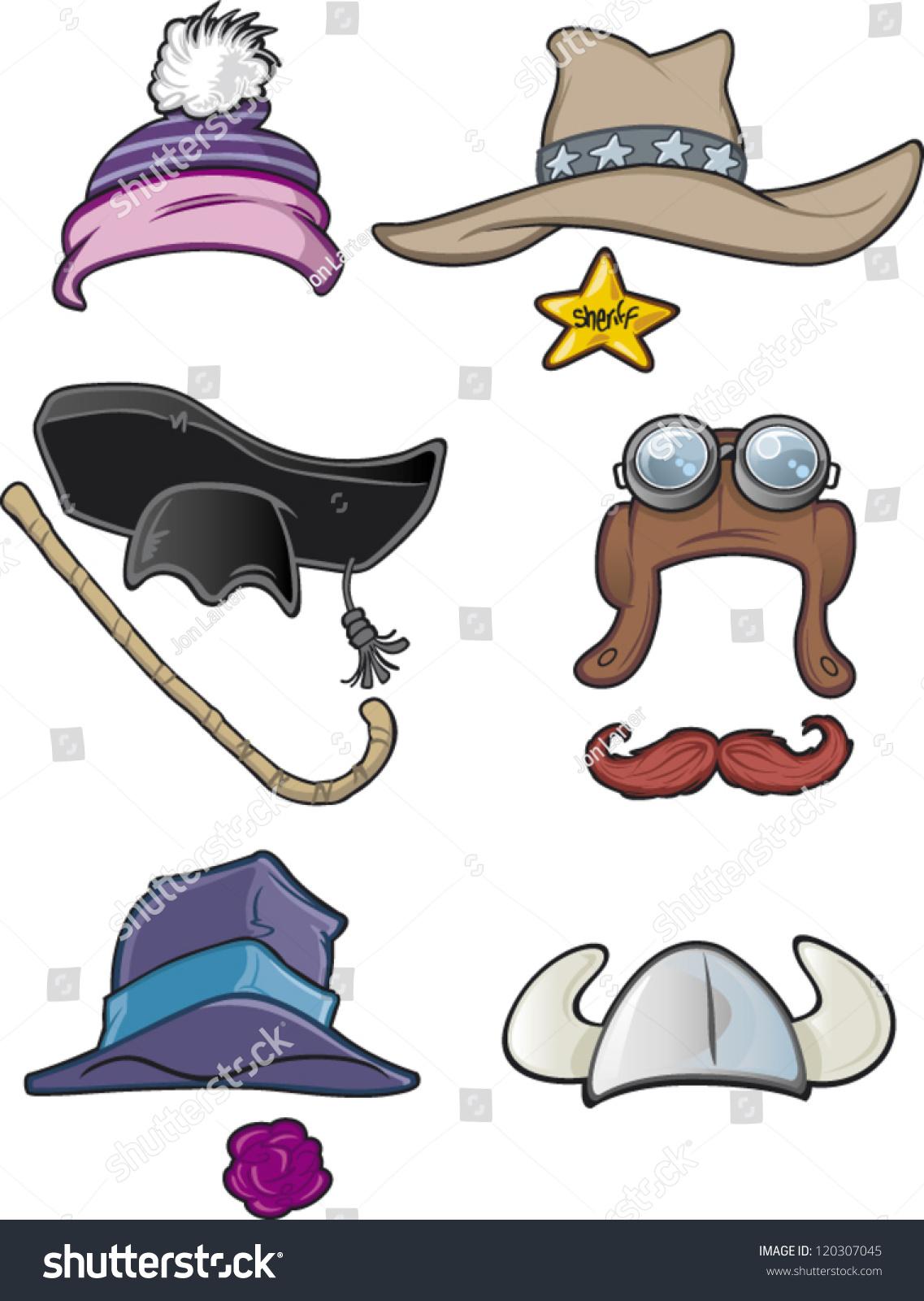 some cartoon hats 2 2 stock vector 120307045 - shutterstock