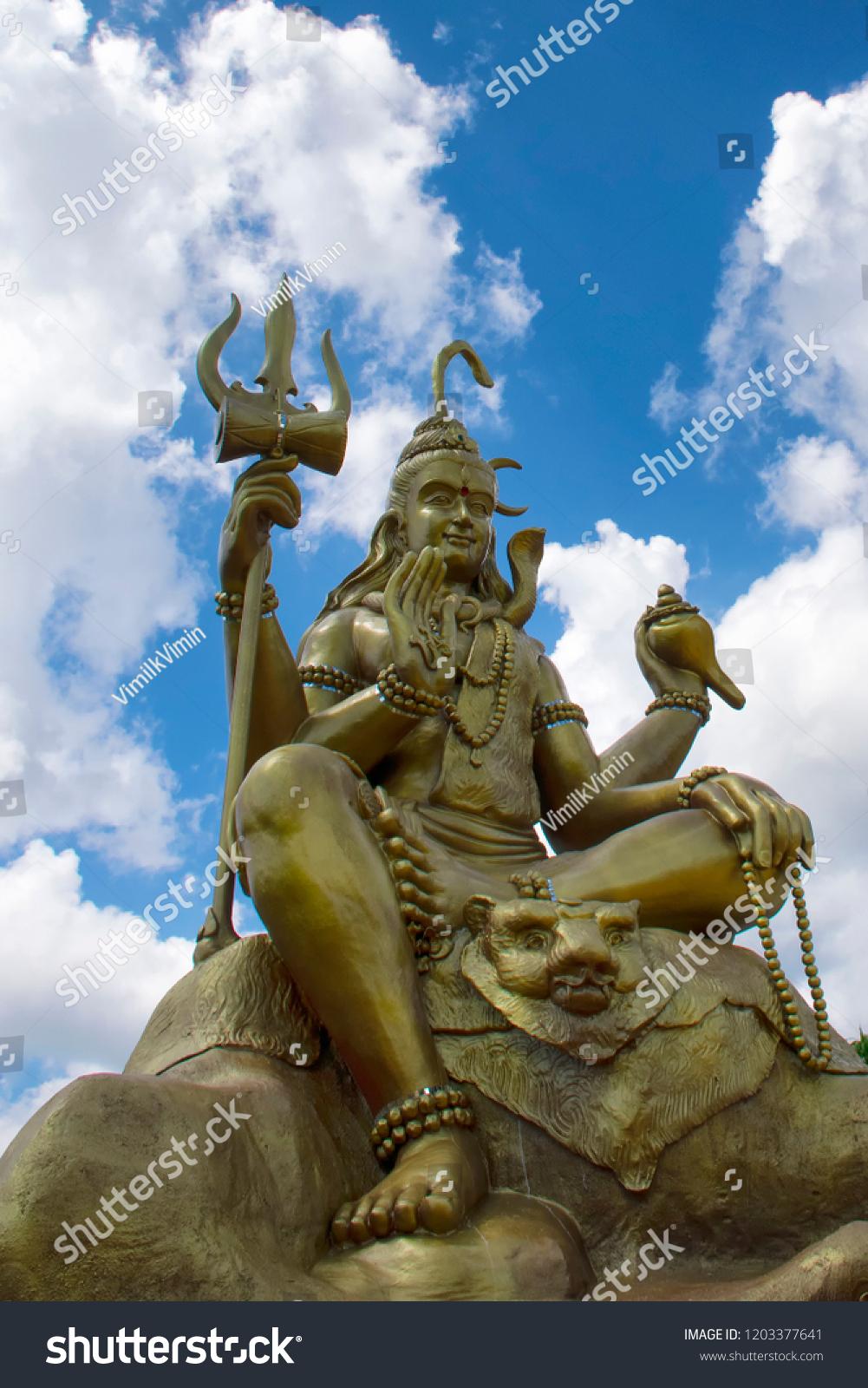 Lord Shiva Blue Sky Wat Chom Stock Photo (Edit Now) 1203377641