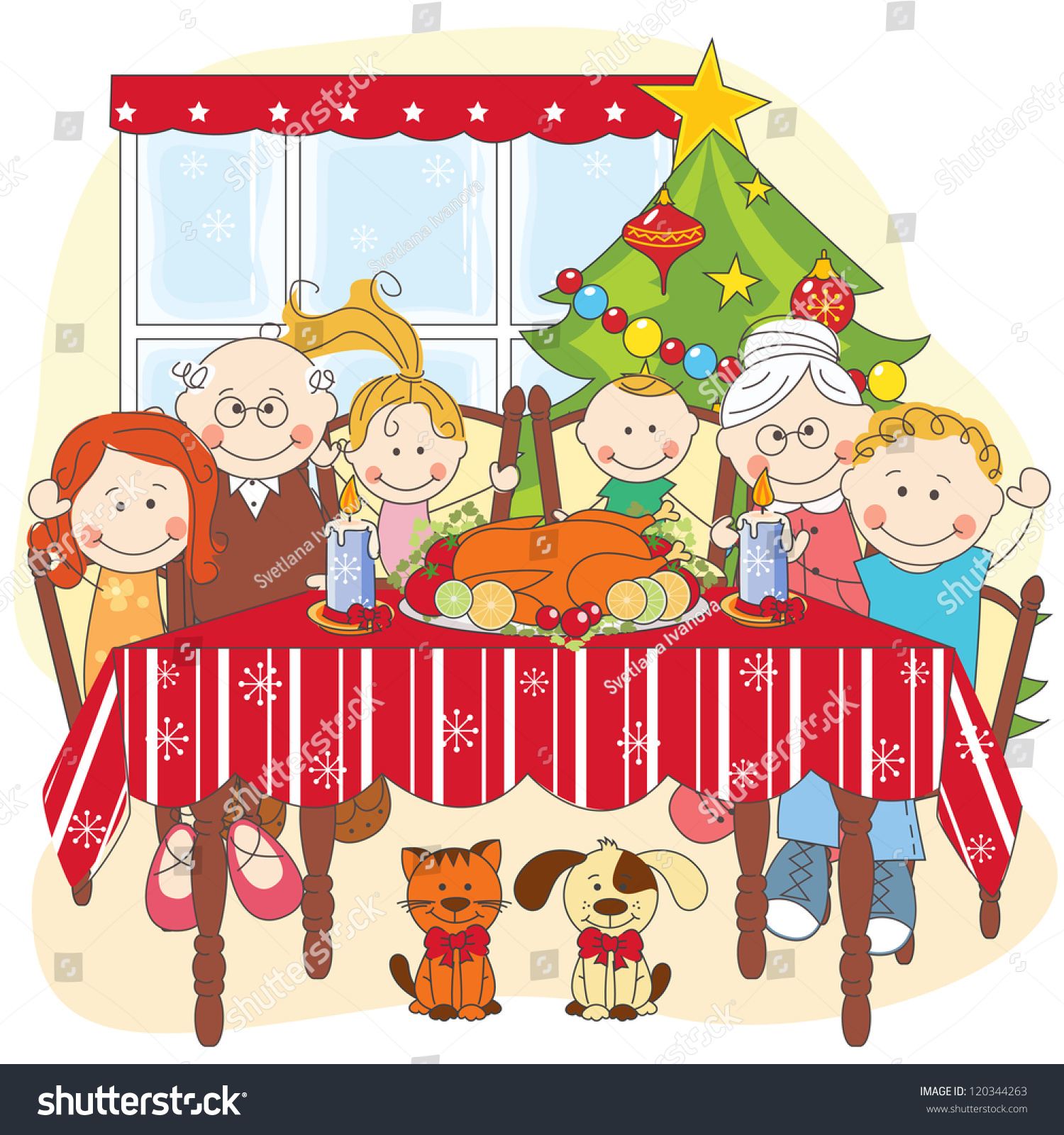 Family Picture Dog Christimas