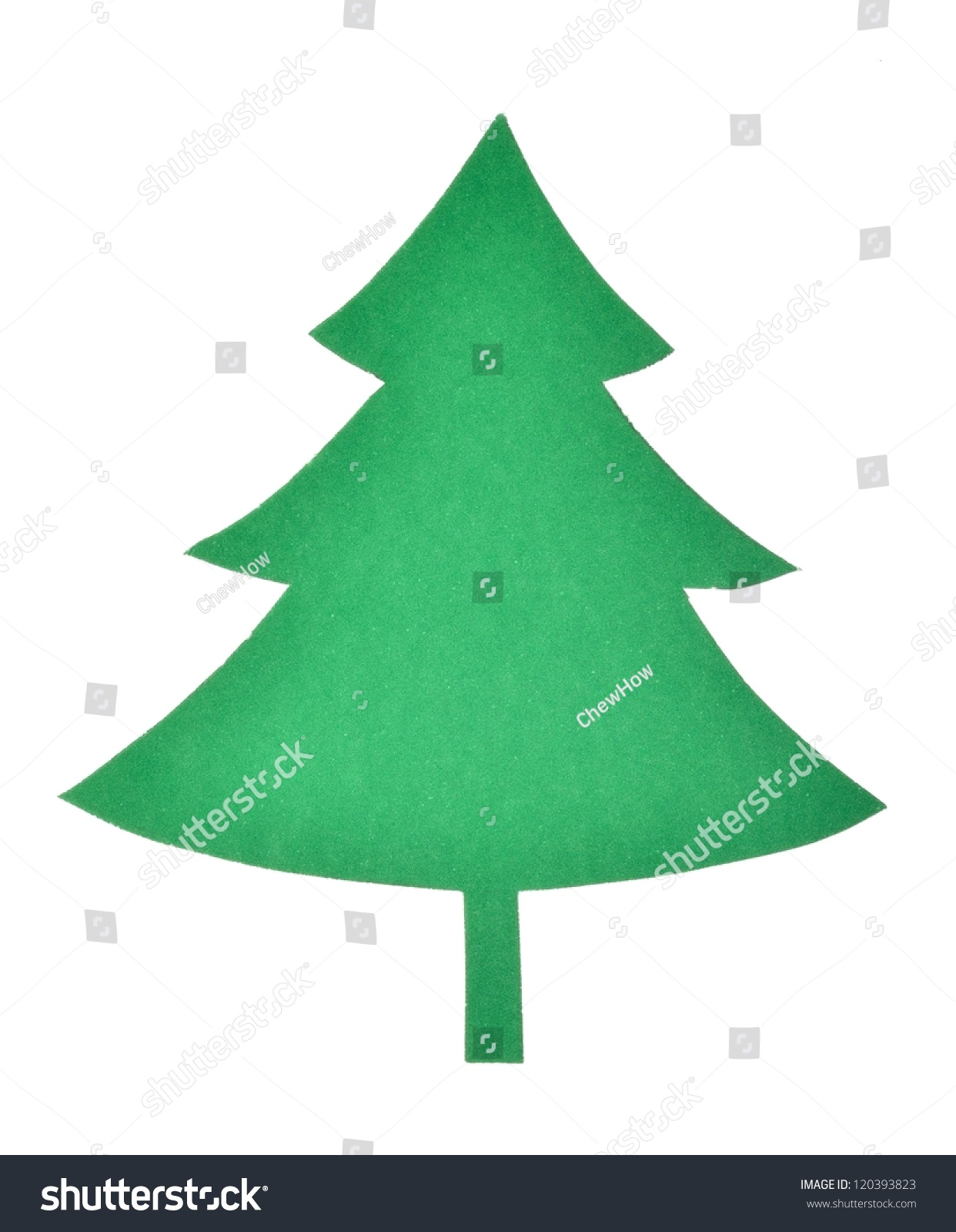 Green Paper Cut Out Christmas Tree Stock Photo 120393823 - Shutterstock