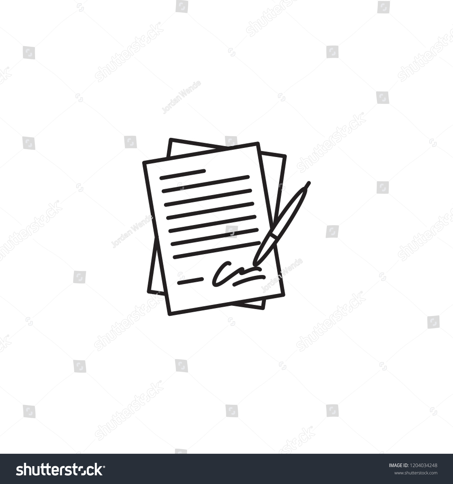 signing membership papers forms legal vector stock vector royalty