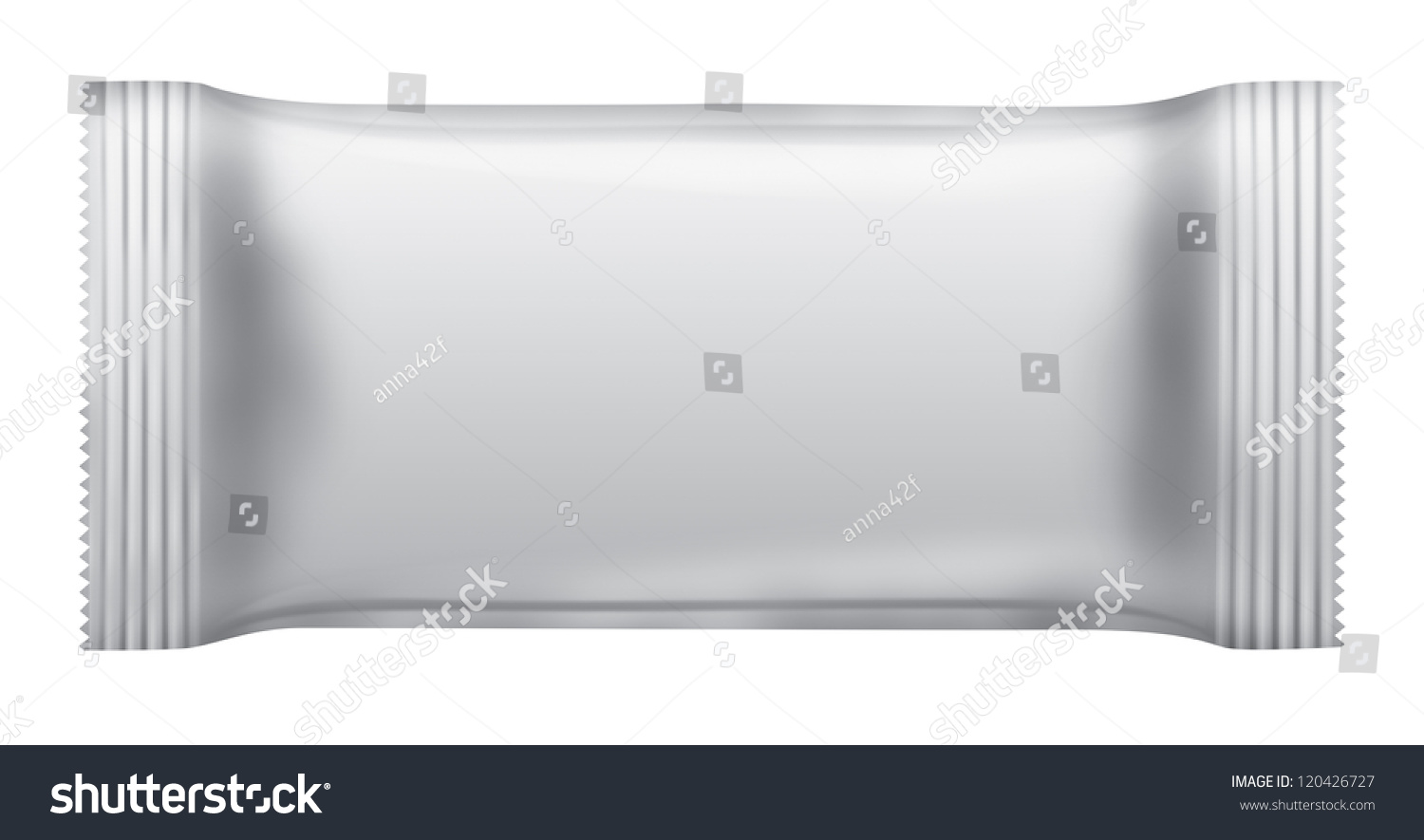 Blank Chocolate Bar Package Isolated On White Background 3D
