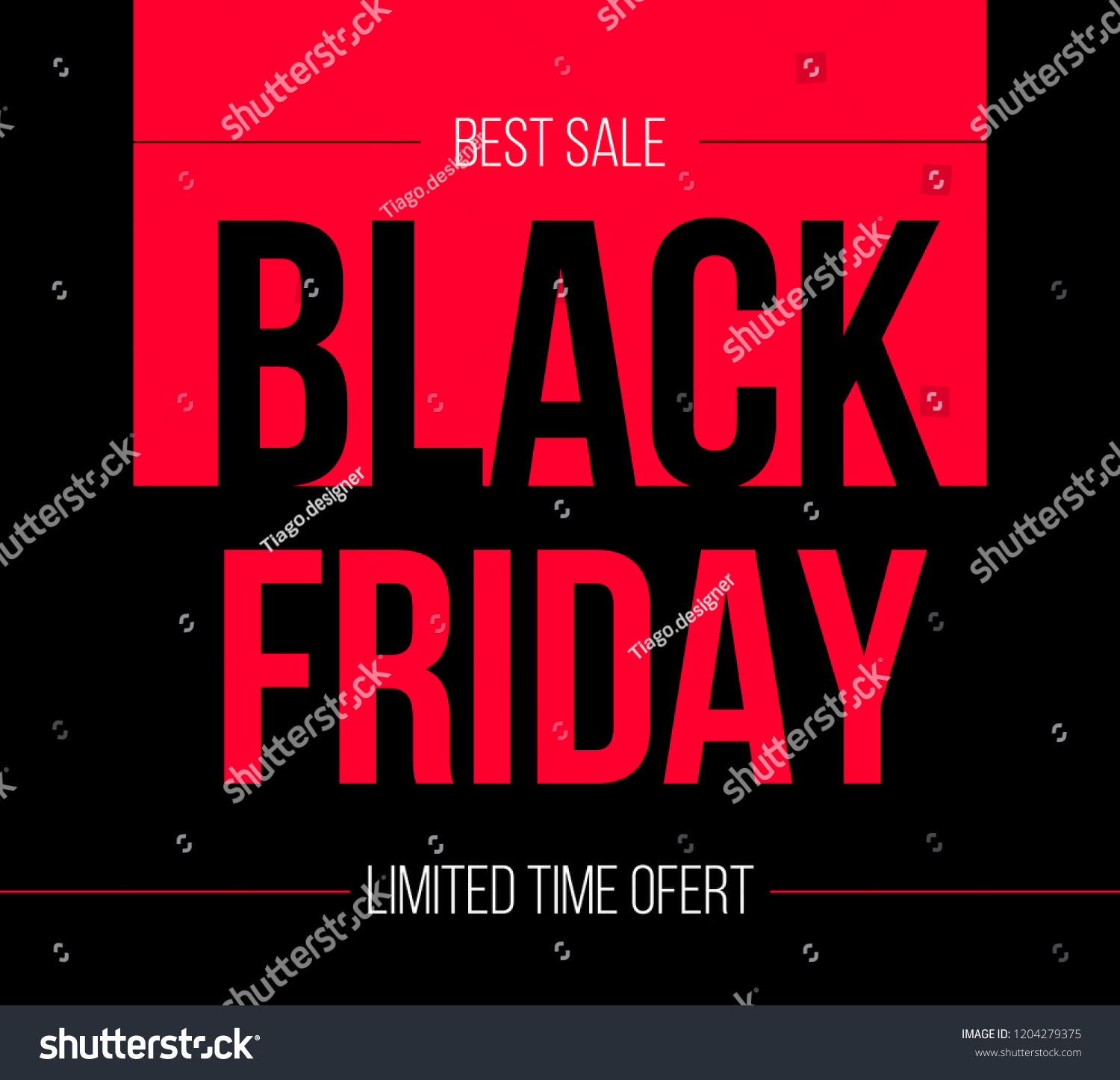 Black Friday Vector Project Promote Your Stock Vector Royalty Free 1204279375