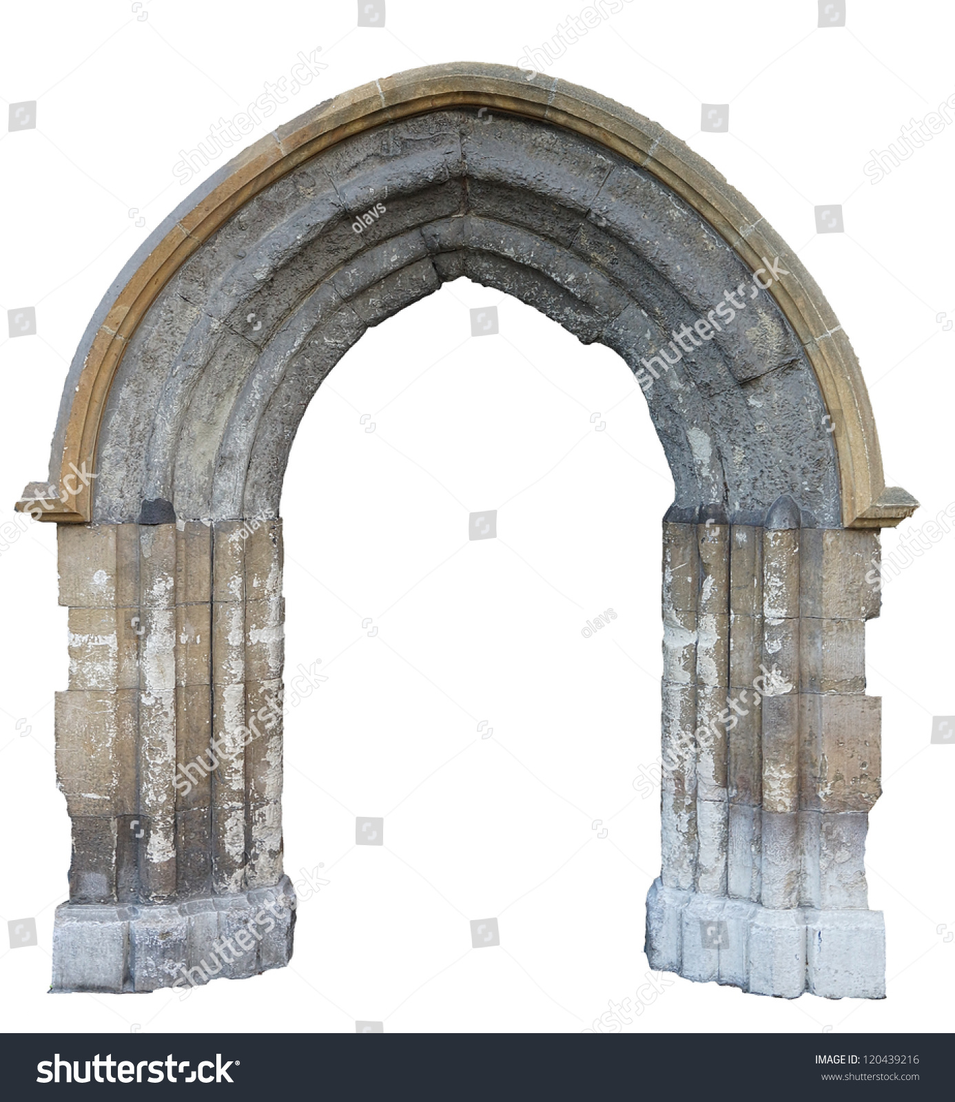 A Gothic Arch Isolated On White Background