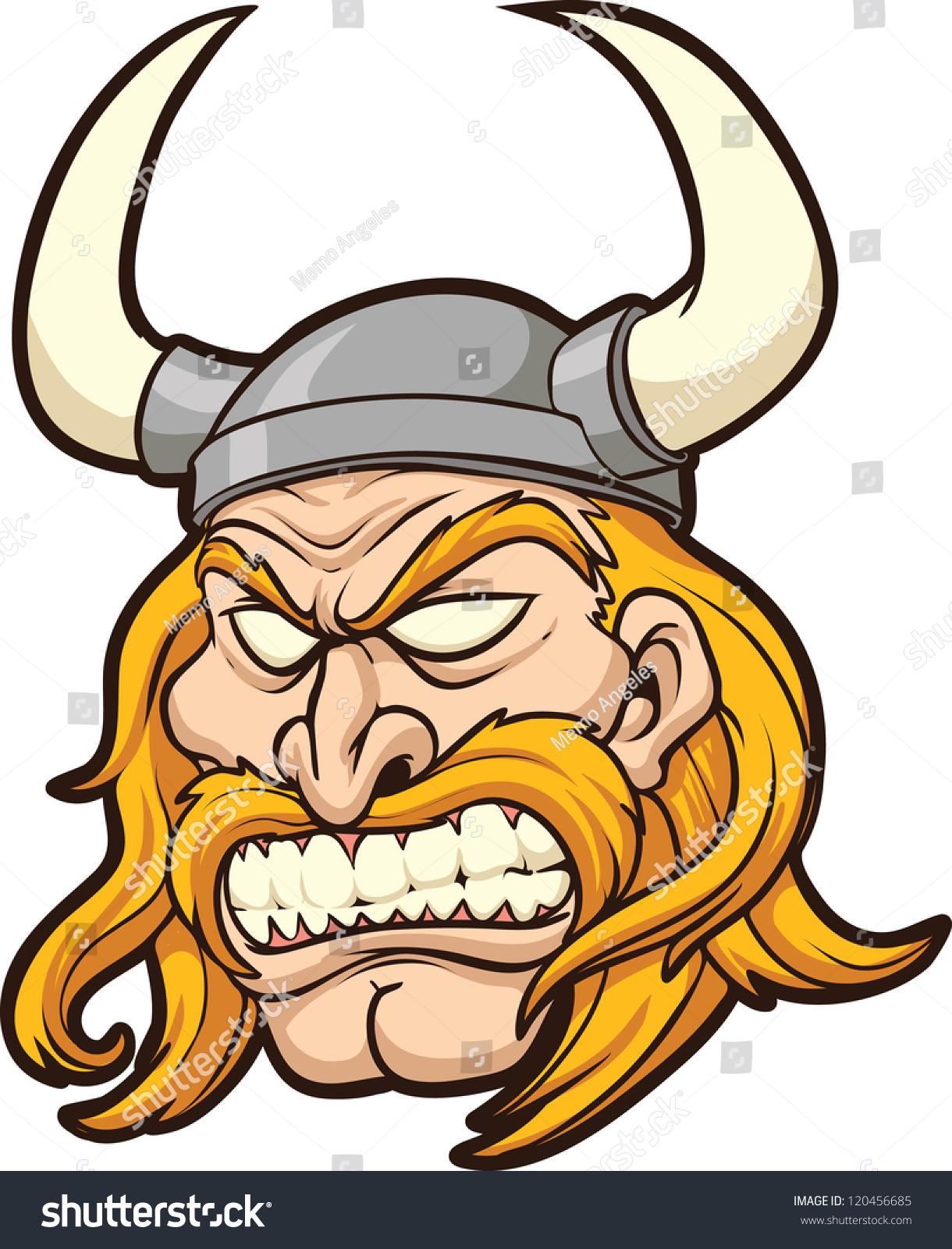 viking head vector clip art illustration stock vector 120456685