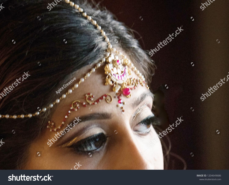 Perfect Indian Bridal Eye Makeup Wedding Stock Photo Edit Now
