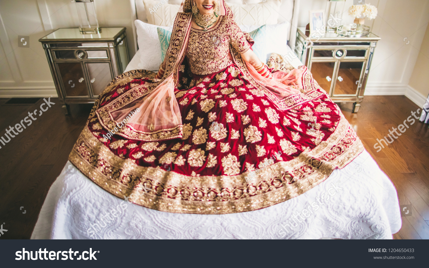 Indian Pakistani Bride Glowing Her Wedding Stock Photo Edit Now 1204650433,Dresses For Destination Wedding Guest