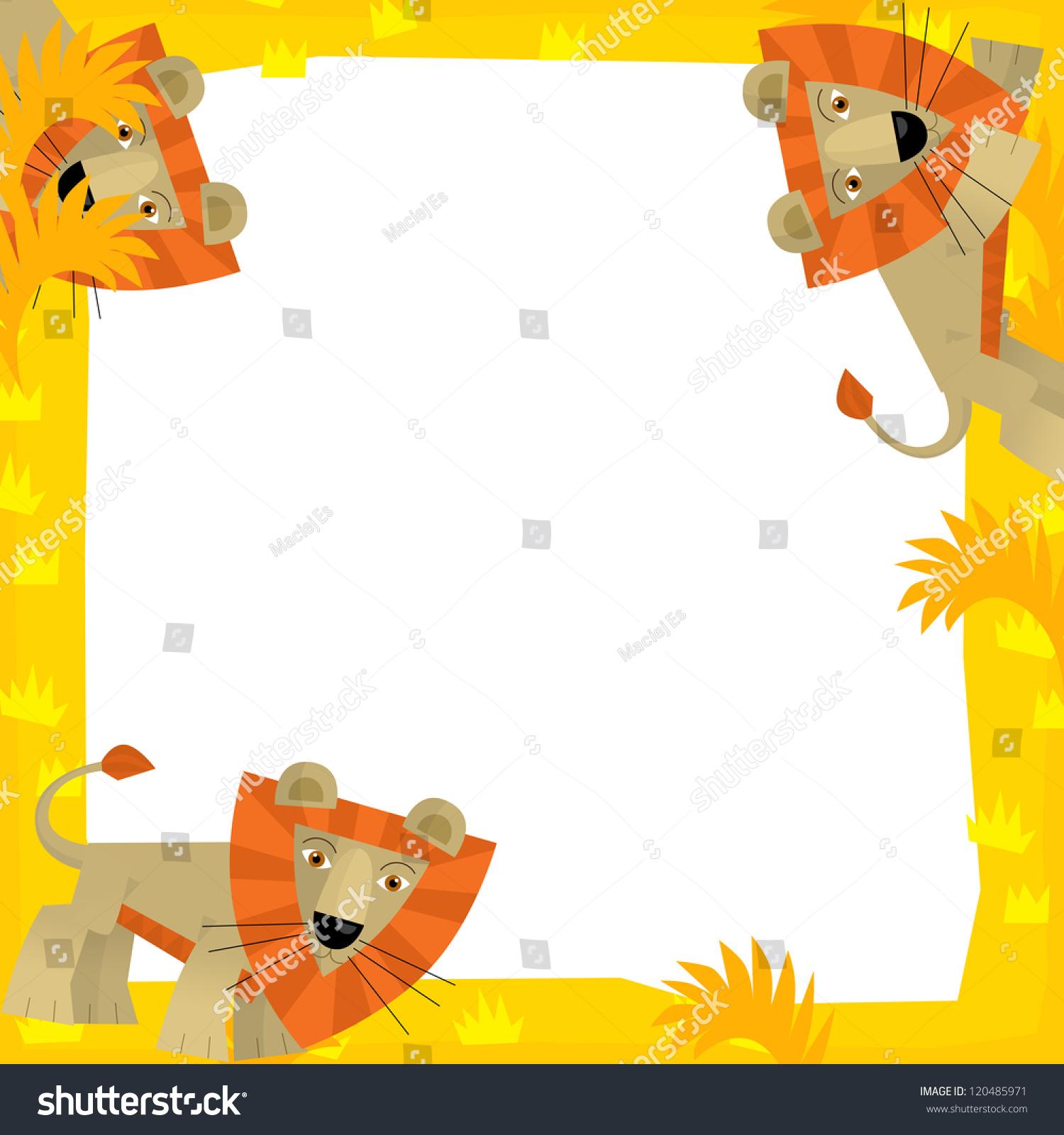 The safari frame - with animals - illustration for the children | EZ ...