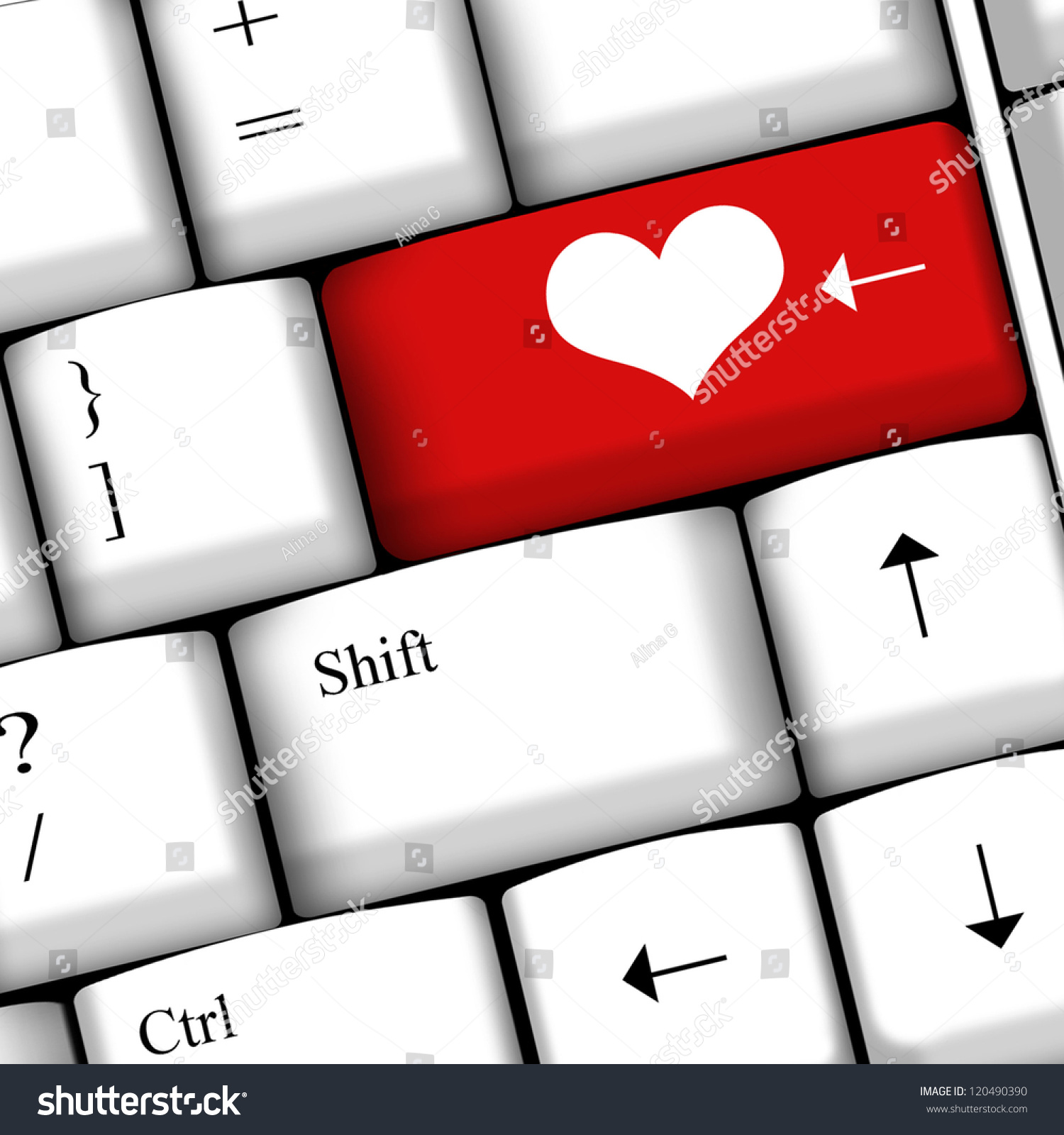 Computer keyboard love key stock illustration 120490390 shutterstock computer keyboard with love key biocorpaavc Images