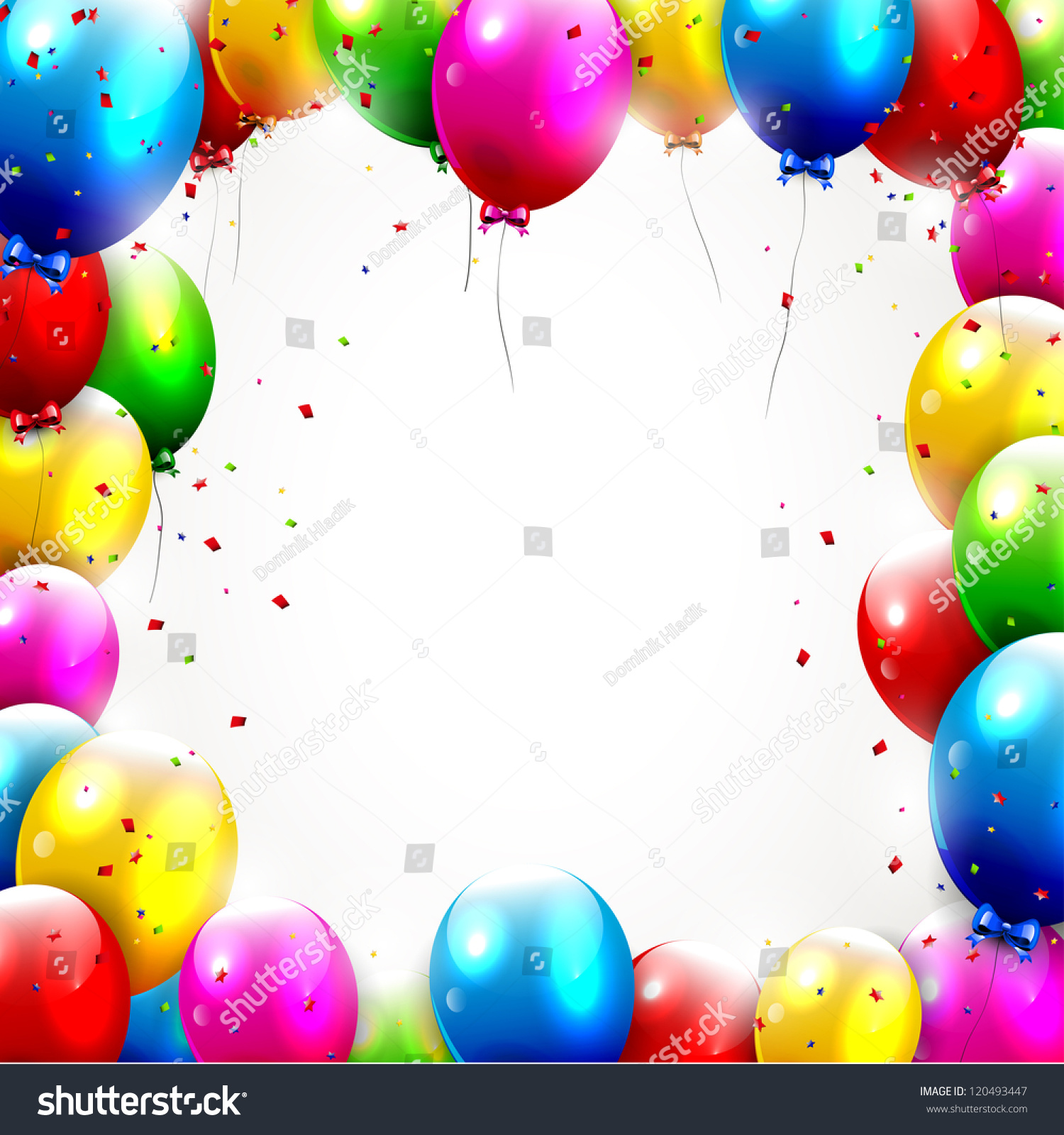 Colorful Birthday Background Stock Vector 120493447