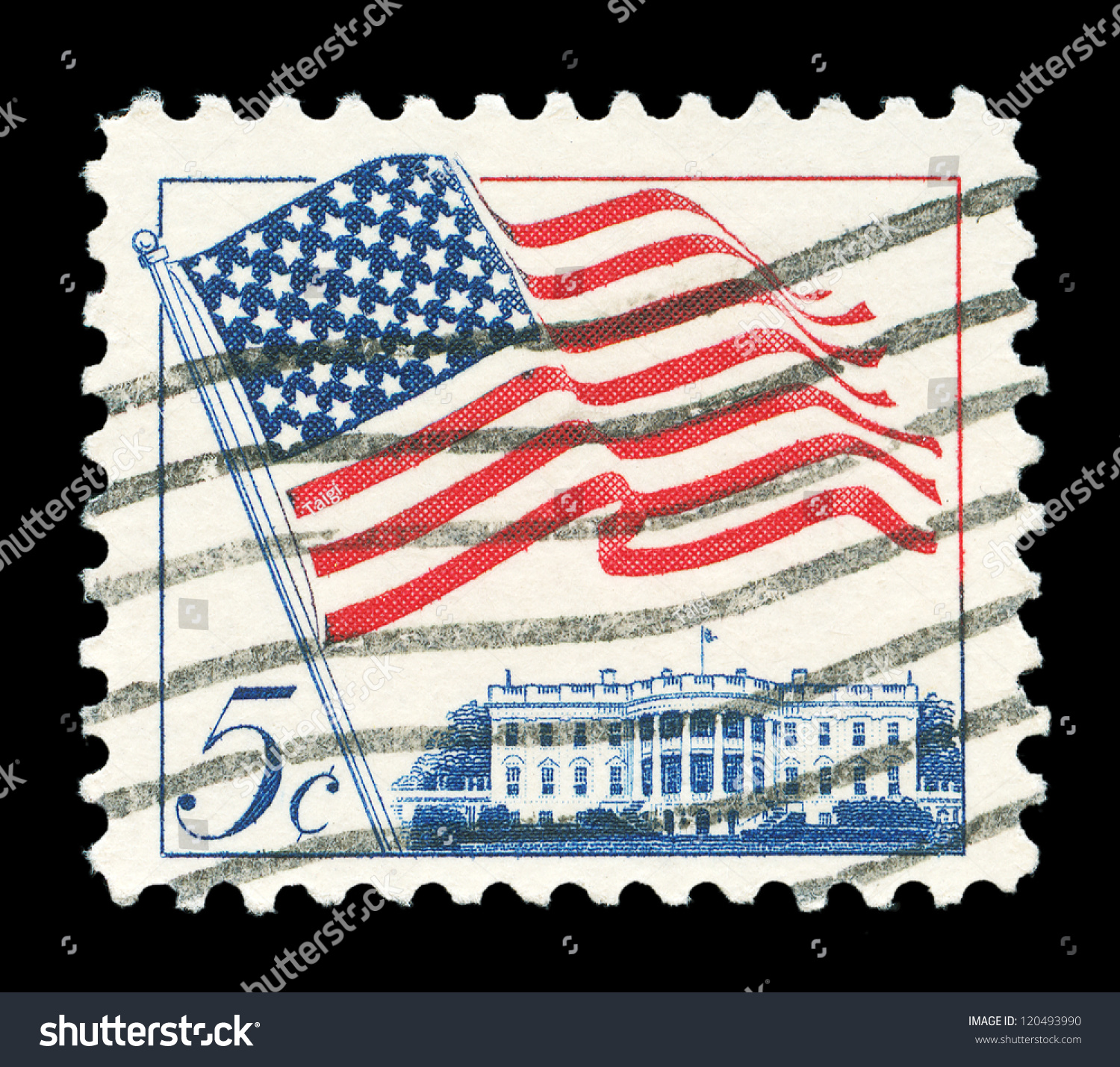 White House (TN) United States  city pictures gallery : ... states circa stamp printed in united states shows image of white house