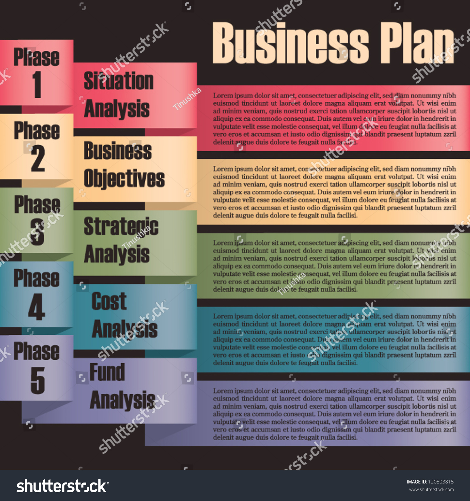 Business Plan Modern Design Template Presentation Stock Vector 120503815 Shutterstock
