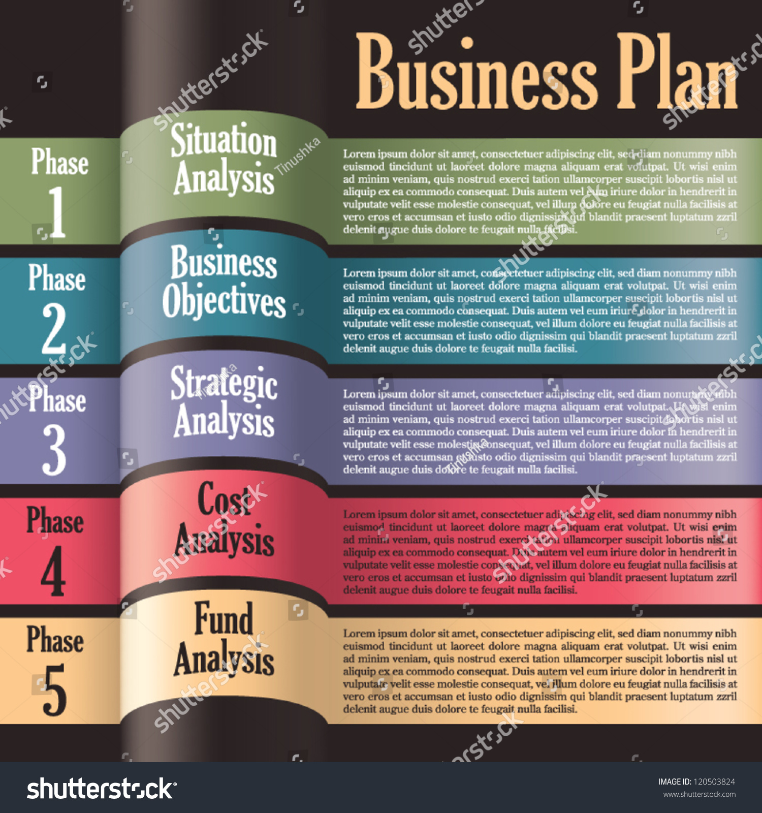 Business plan modern design template presentation stock - Business plan for web design company ...