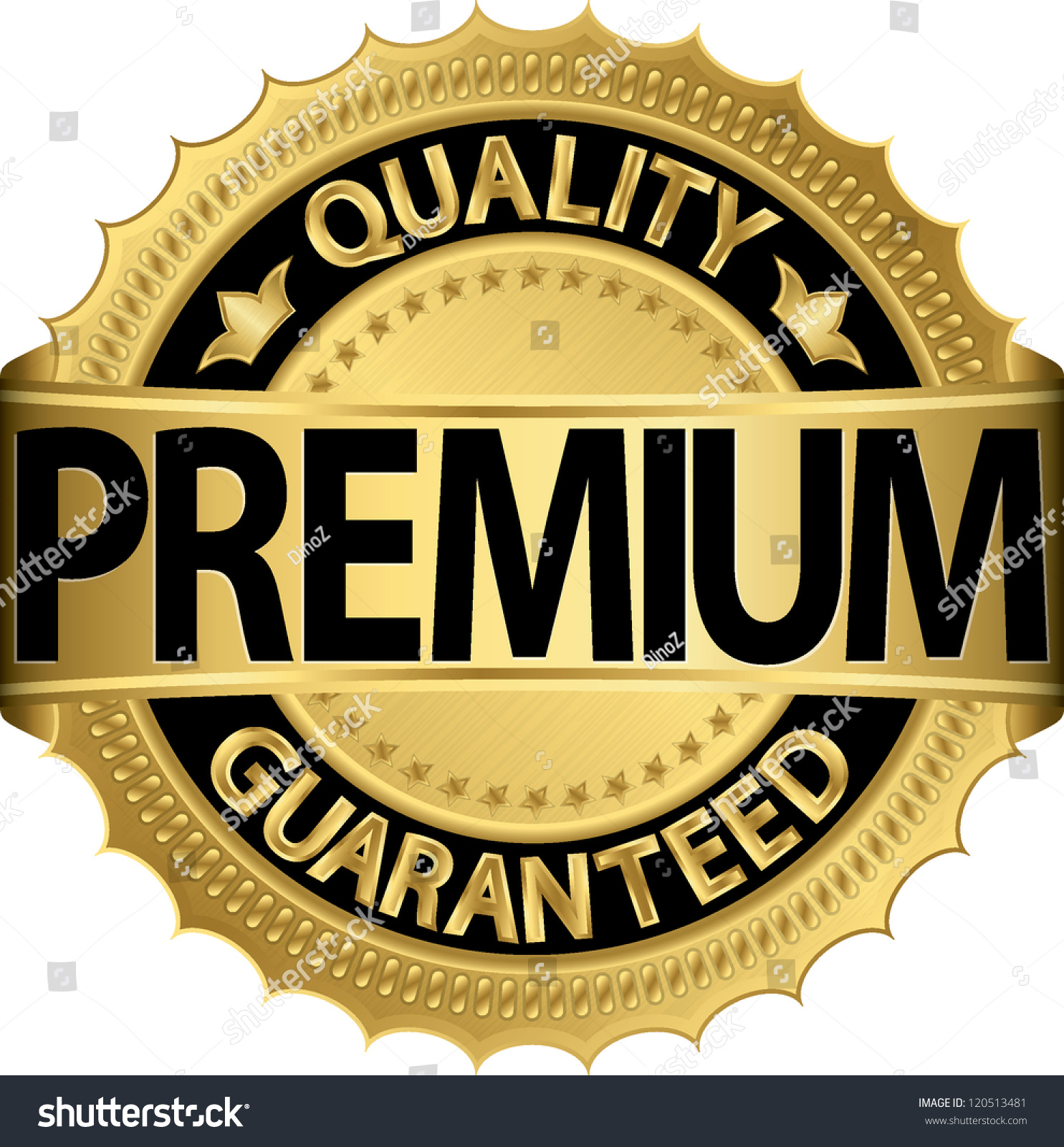 premium quality guaranteed golden label vector stock vector