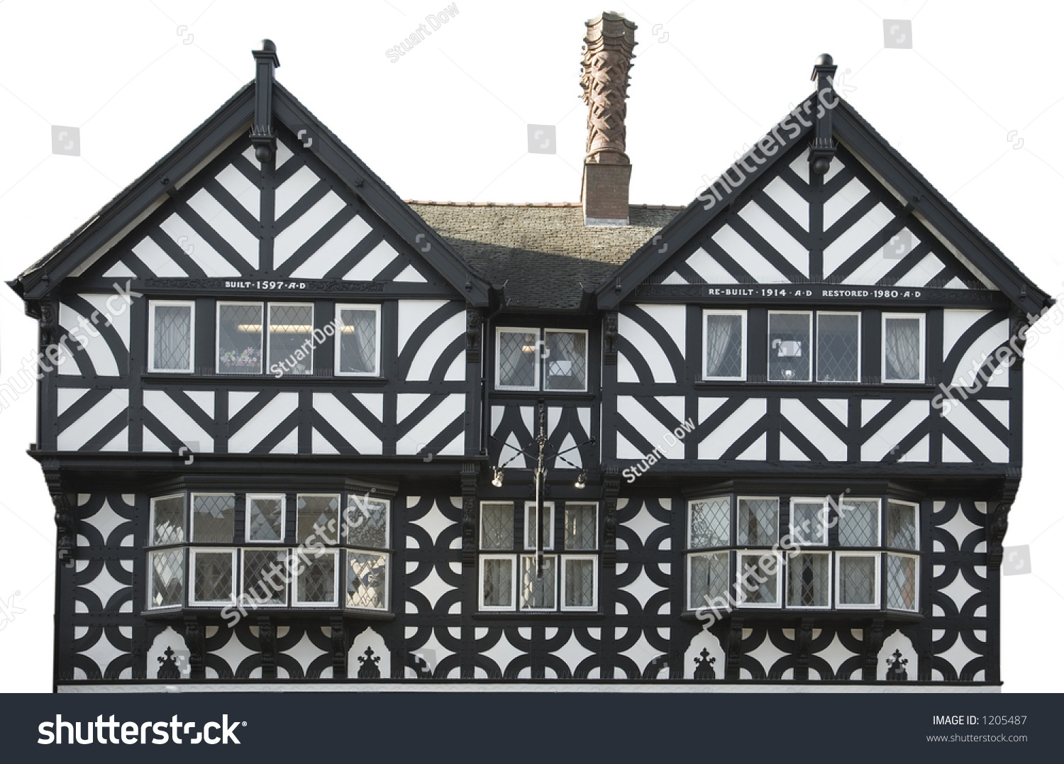 tudor style house front stock photo 1205487 shutterstock