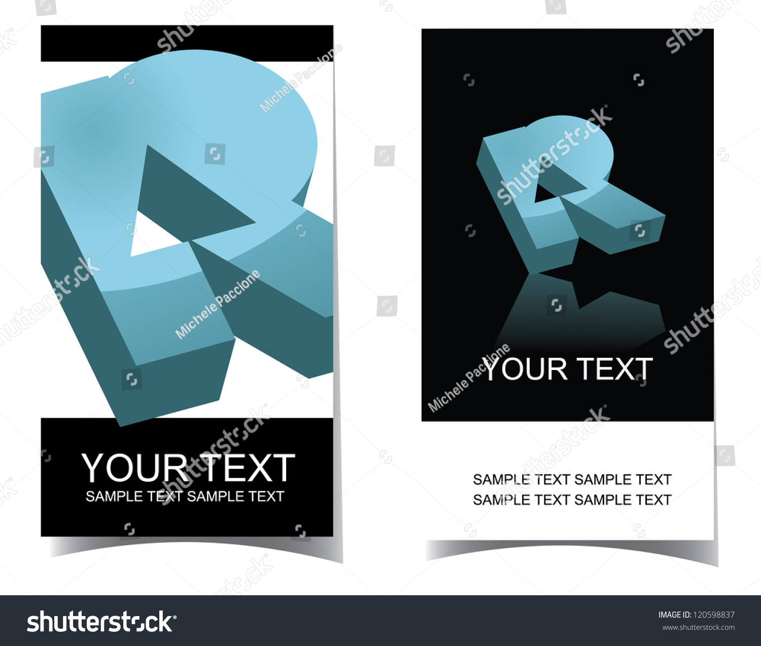 Vector Letter R Icon Symbol Business Stock Vector 120598837 ...