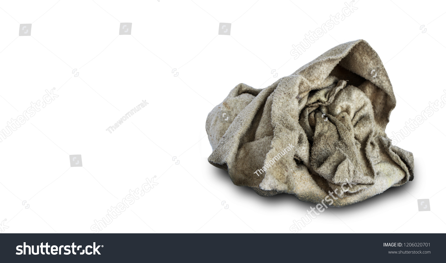 c1553c49fc Close Dirty Rag Isolated On White Stock Photo (Edit Now) 1206020701 ...