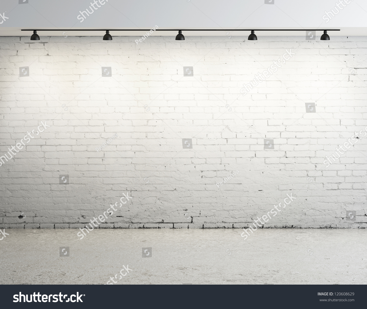 Brick Concrete Room Ceiling Lamp Stock Photo 120608629 - Shutterstock for Ceiling Lamp Texture  242xkb