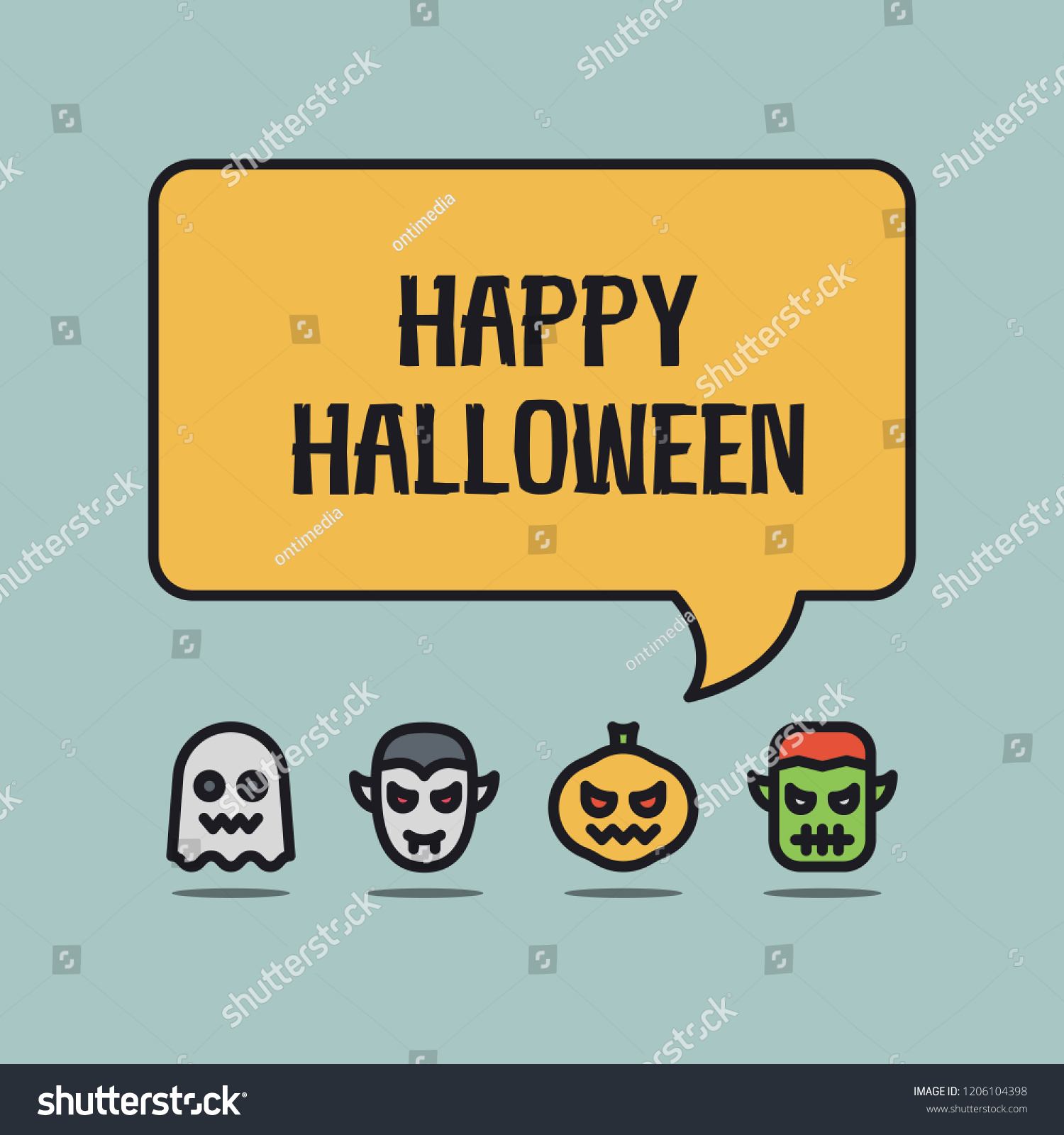 Halloween greeting from funny avatars